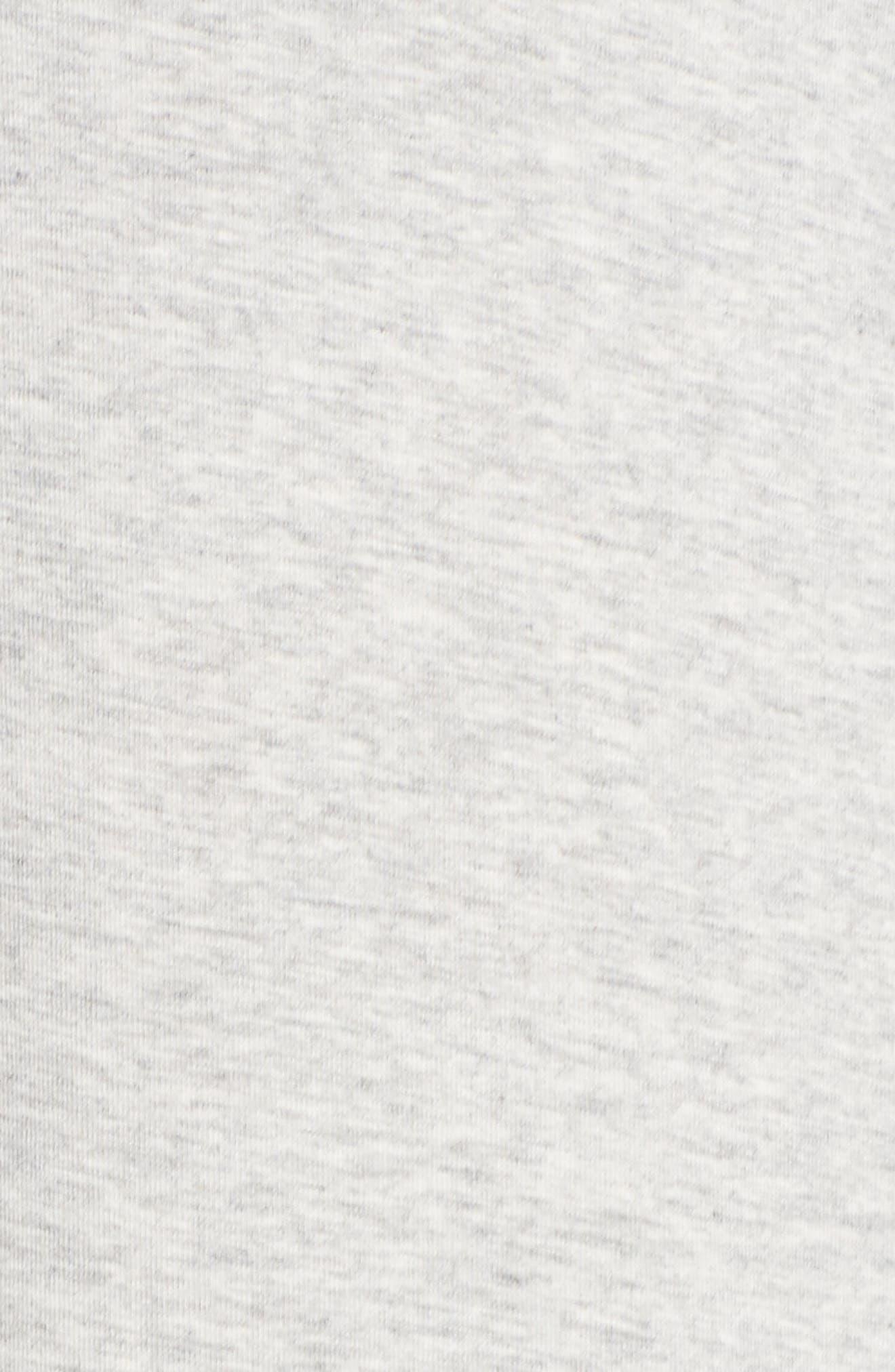 Dolman Sleeve Nightshirt,                             Alternate thumbnail 5, color,                             Grey Pearl Heather