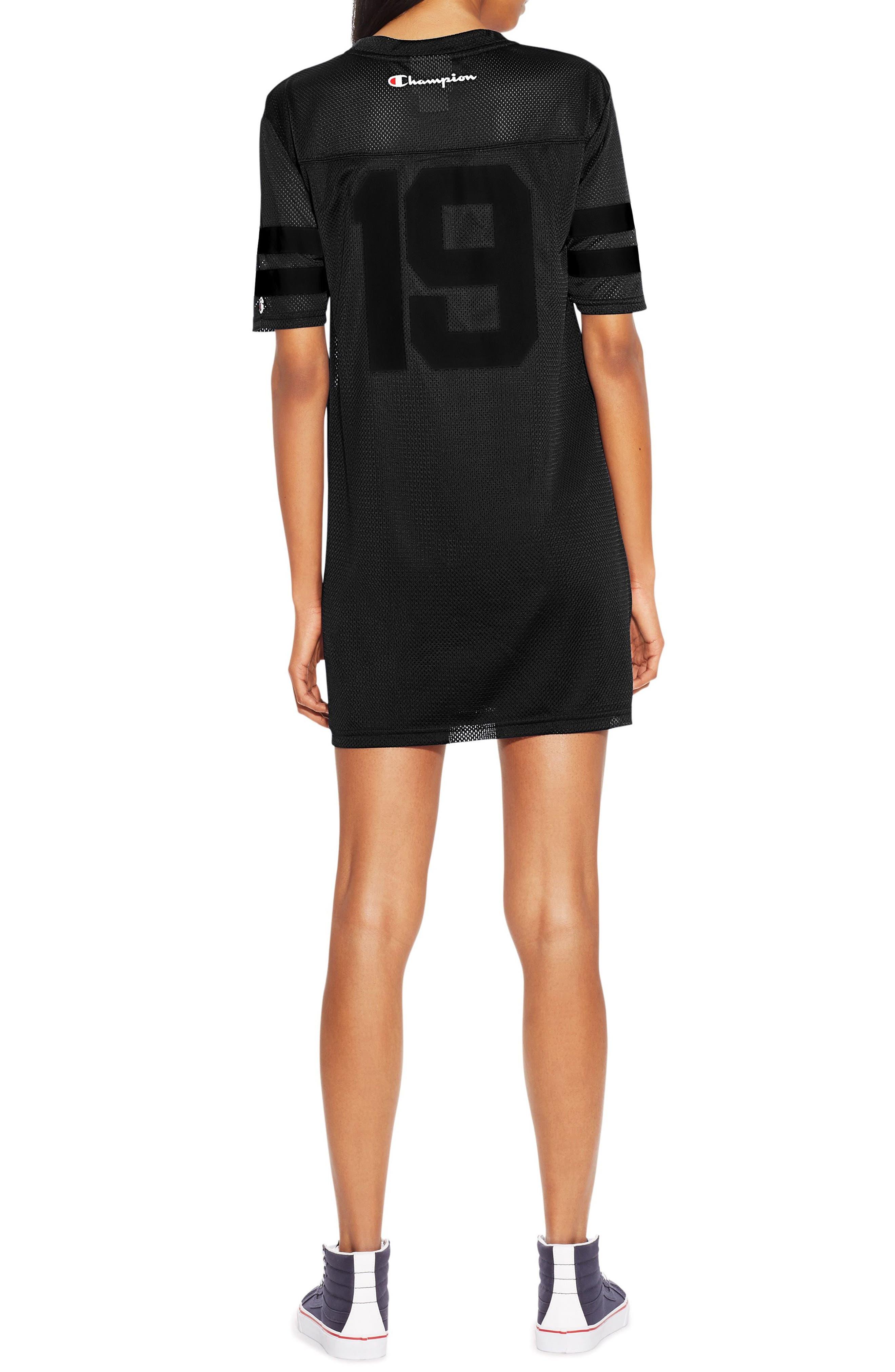 Life<sup>®</sup> Mesh T-Shirt Dress,                             Alternate thumbnail 2, color,                             Black