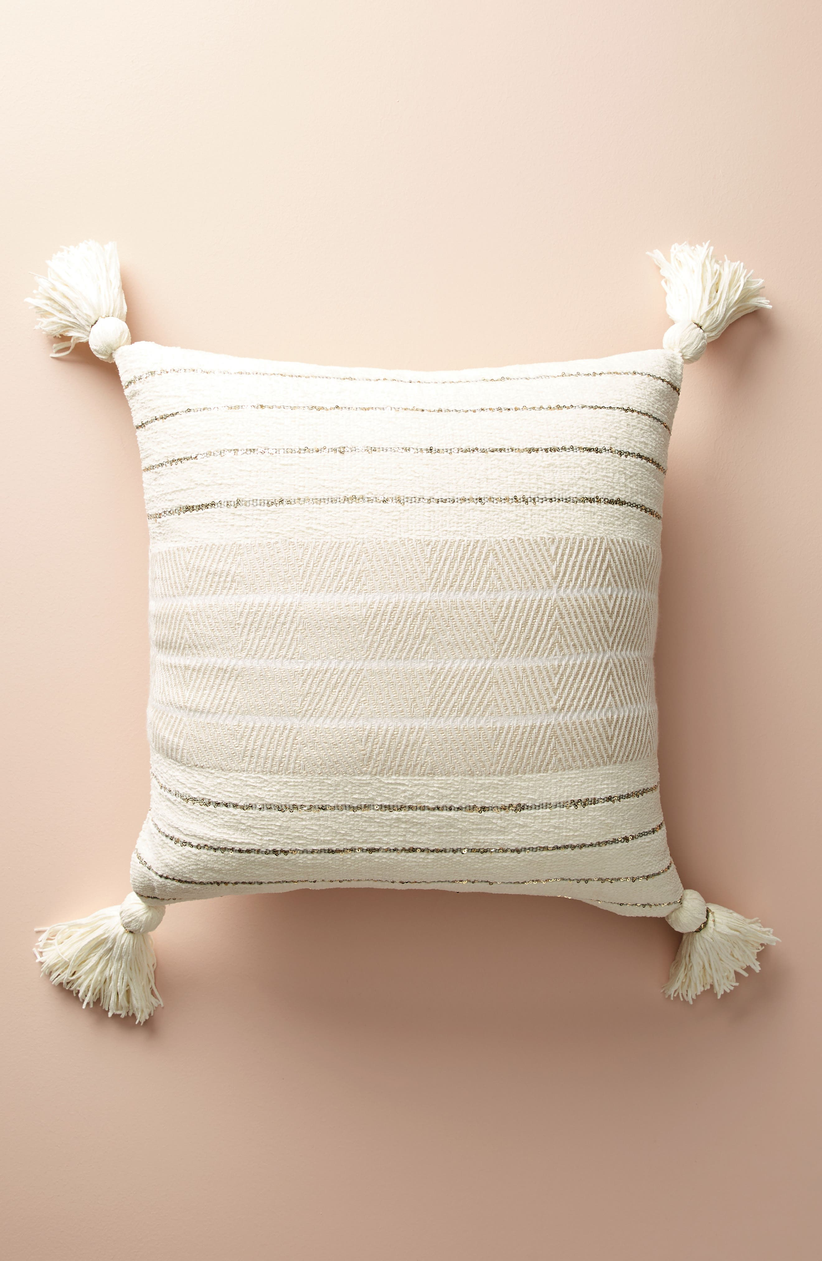 Caroline Accent Pillow,                             Main thumbnail 1, color,                             Ivory