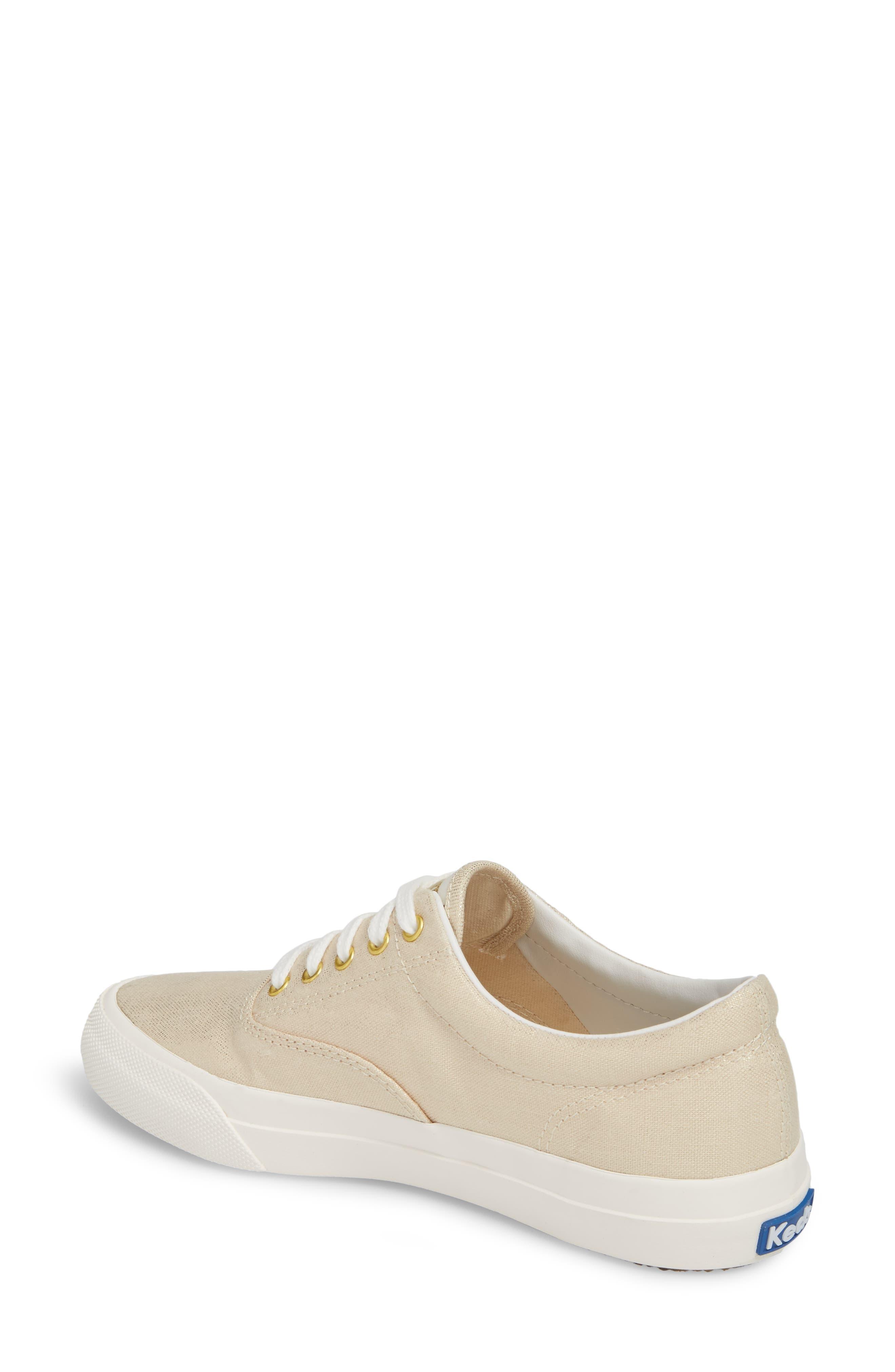Alternate Image 2  - Keds® Anchor Metallic Linen Sneaker (Women)