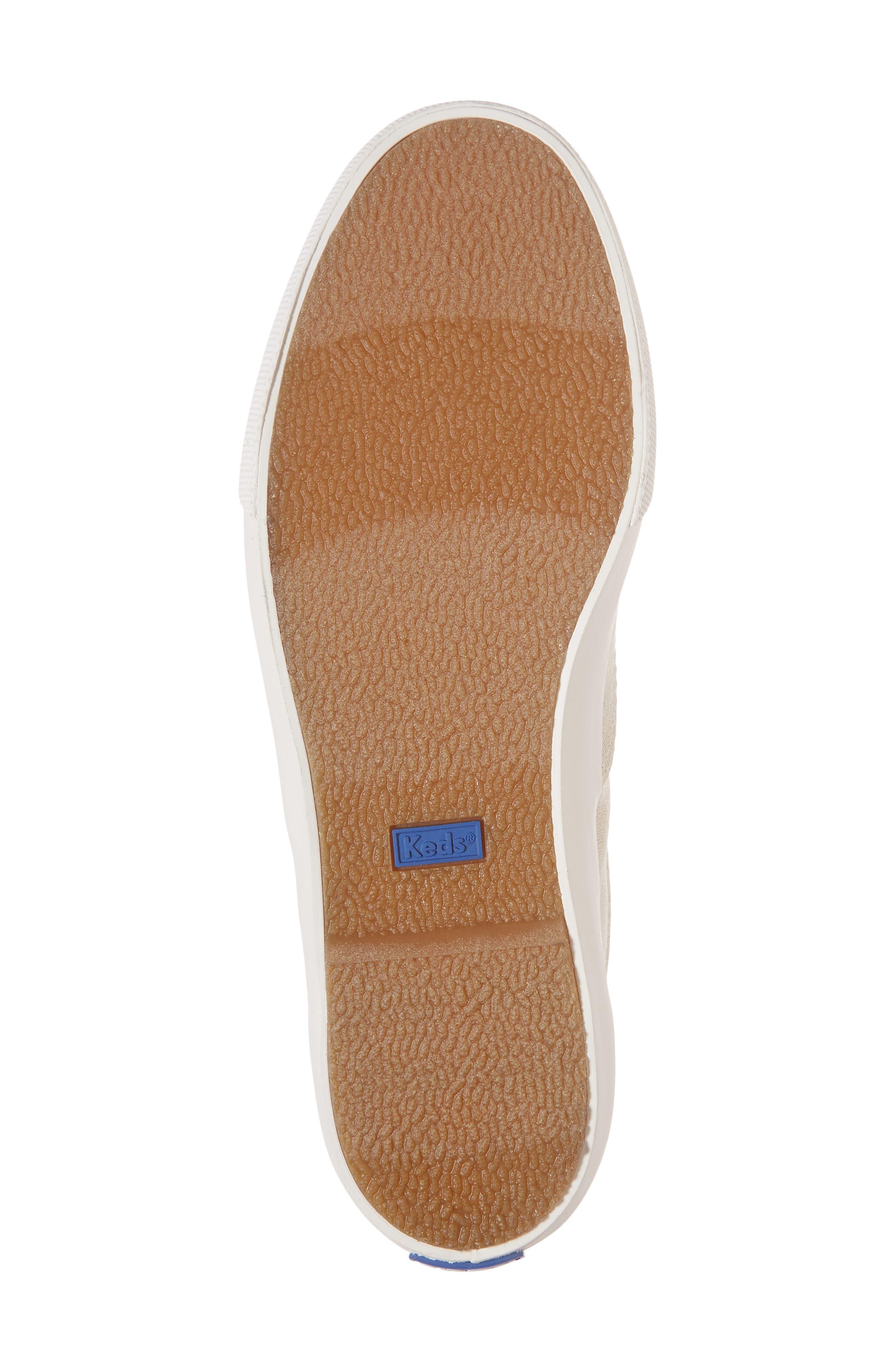 Alternate Image 6  - Keds® Anchor Metallic Linen Sneaker (Women)