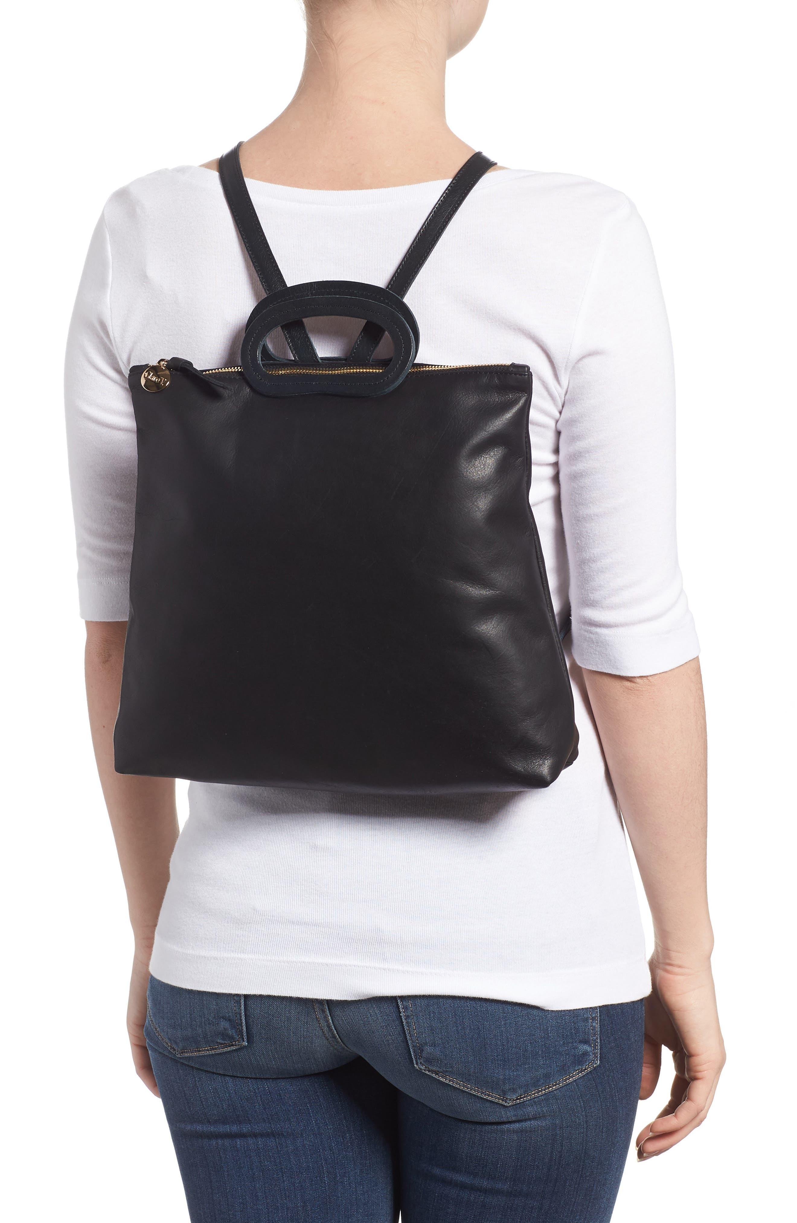 Marcelle Lambskin Leather Backpack,                             Alternate thumbnail 2, color,                             Black