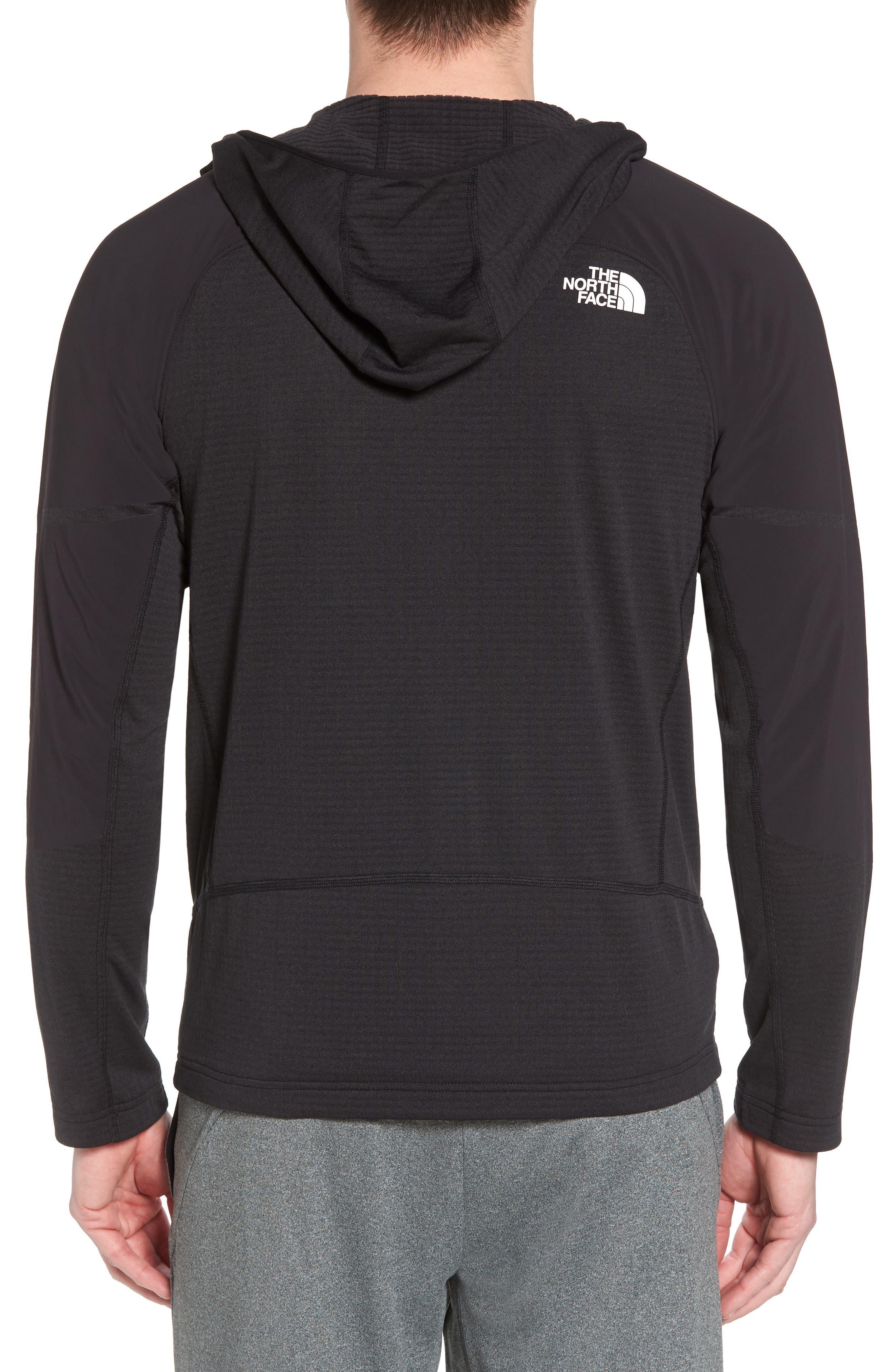 Progressor Power Grid<sup>™</sup> Hooded Fleece Jacket,                             Alternate thumbnail 2, color,                             Black/ Black