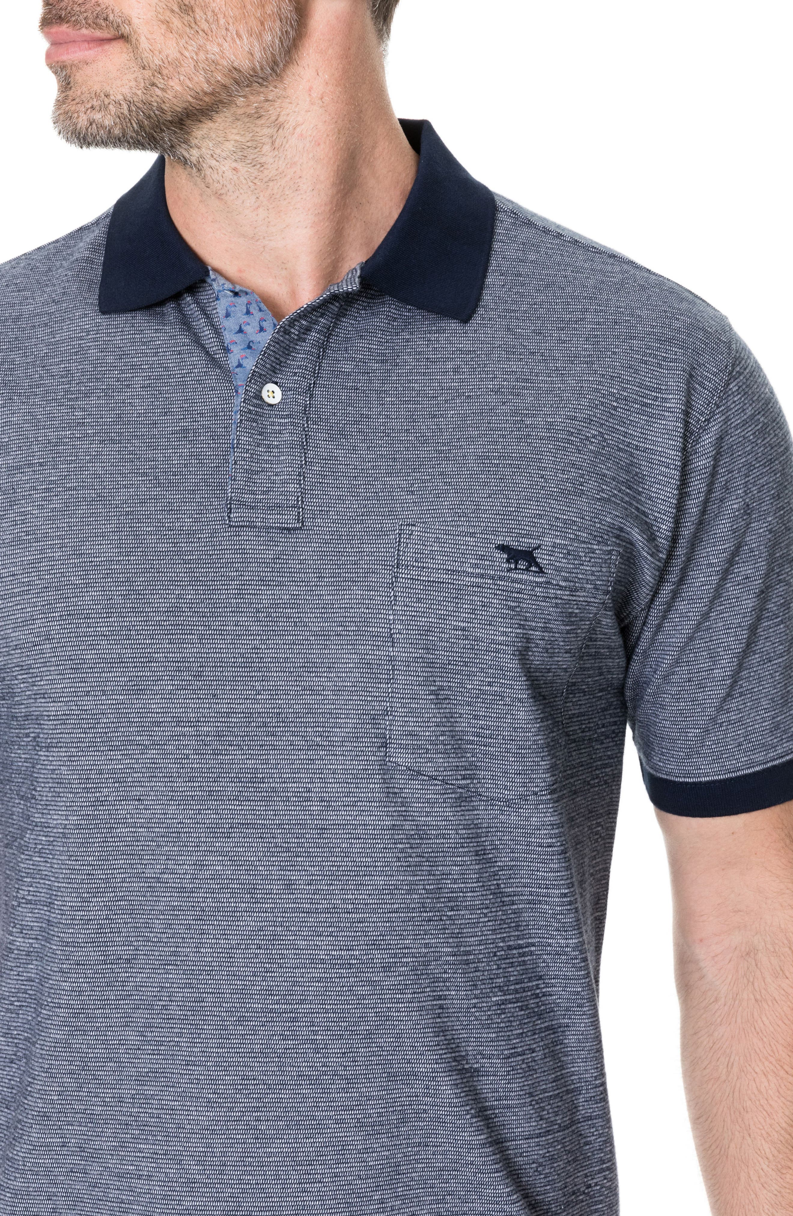 Sedgebrook Regular Fit Polo,                             Alternate thumbnail 3, color,                             Navy