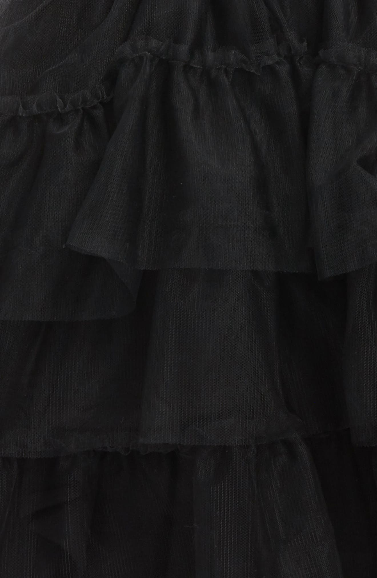 Tulle Skirt,                             Alternate thumbnail 2, color,                             Dyed Black