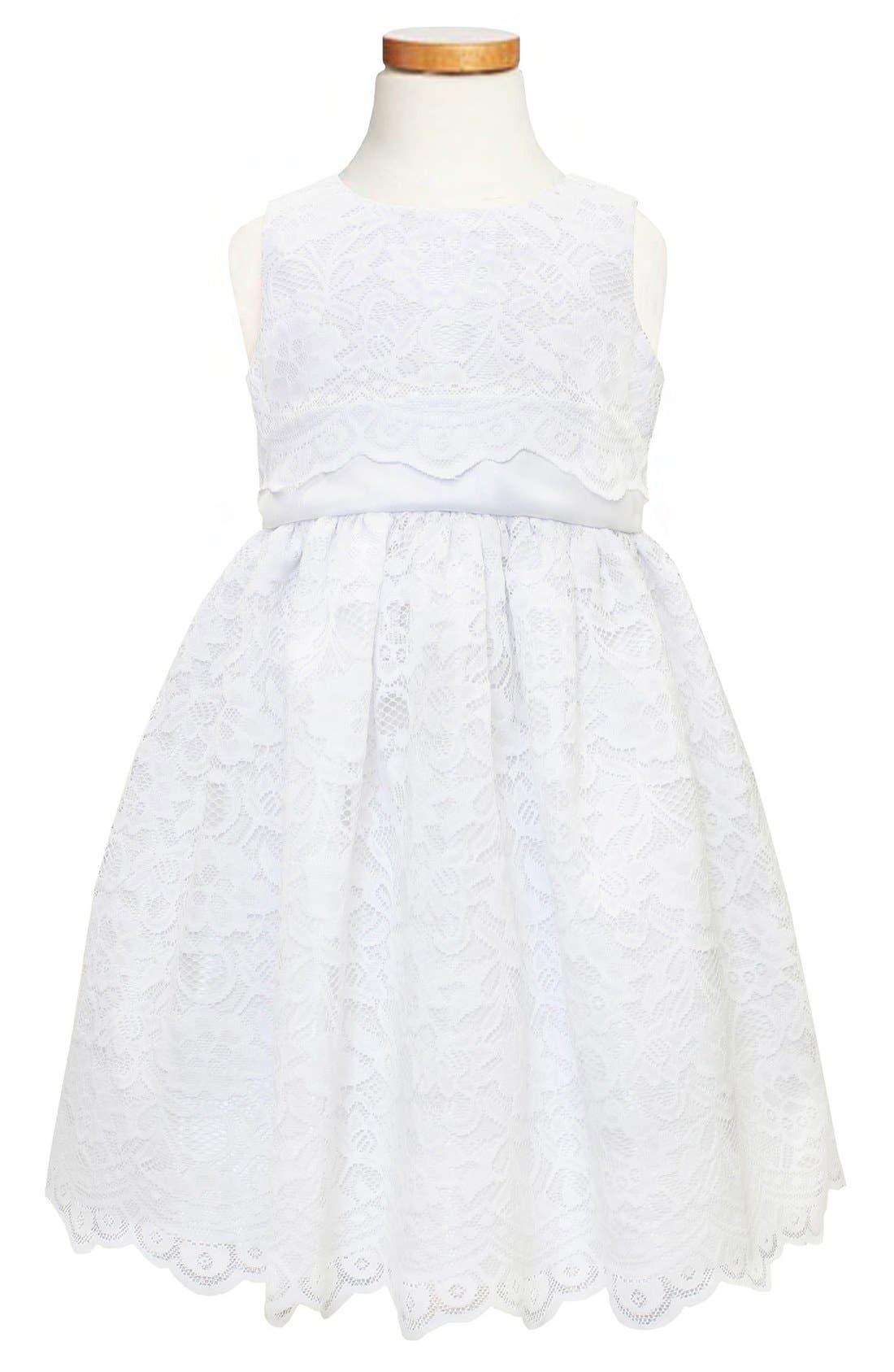 Alternate Image 1 Selected - Sorbet Scallop Lace Dress (Toddler Girls & Little Girls)