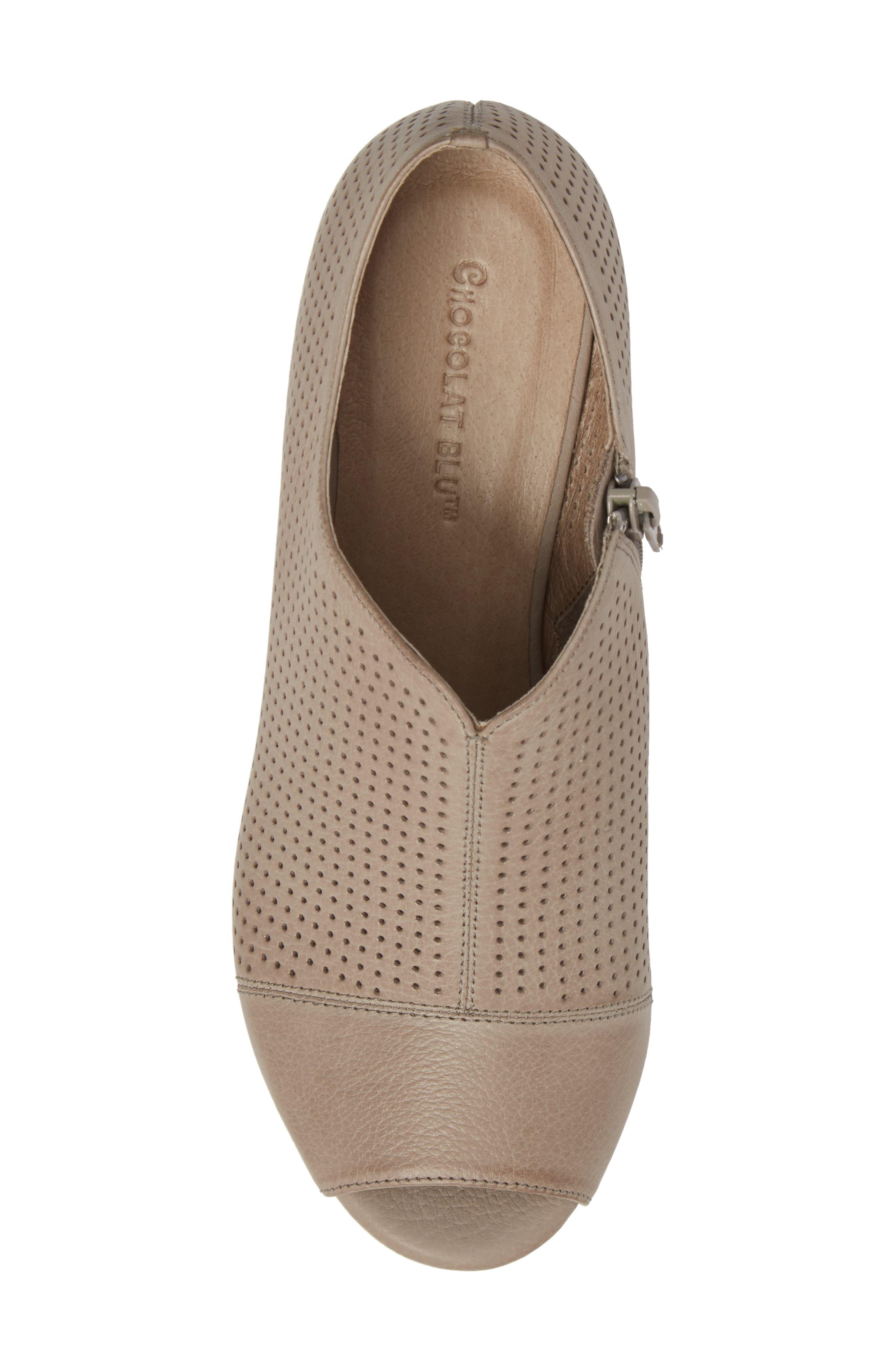 Wheeler Wedge Sandal,                             Alternate thumbnail 5, color,                             Grey Leather