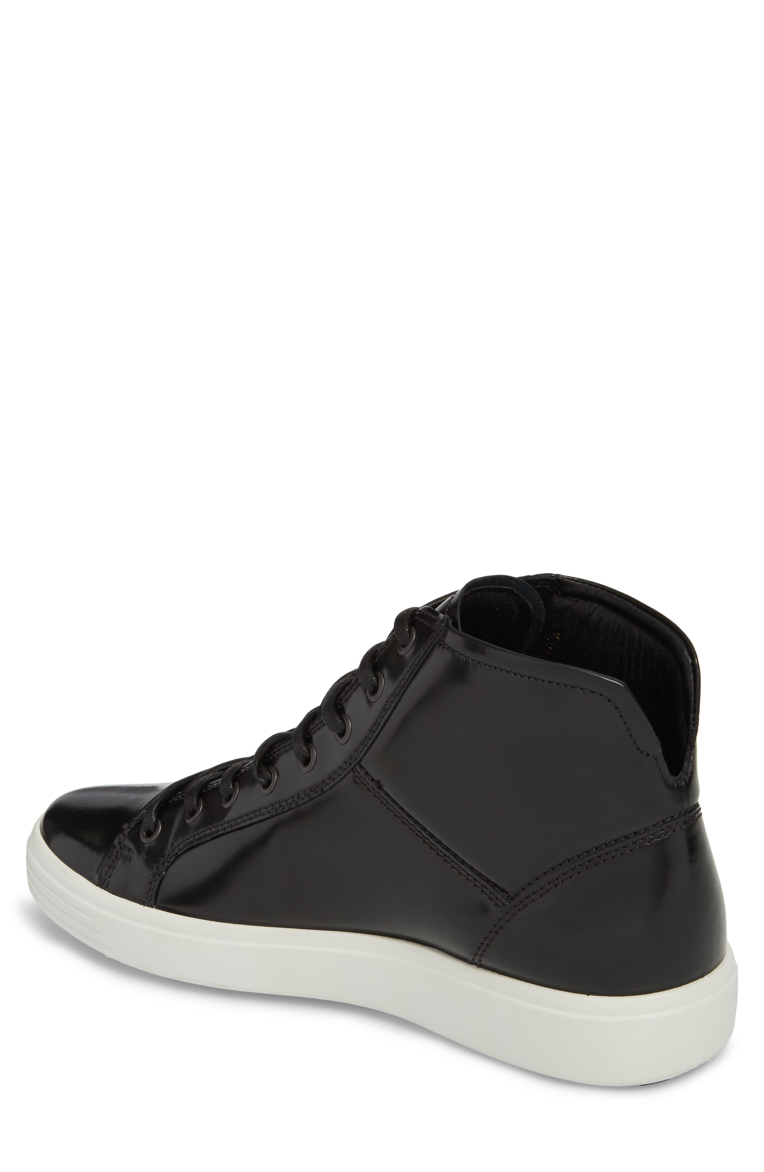 Soft 7 Premium High Top Sneaker,                             Alternate thumbnail 2, color,                             Black Leather