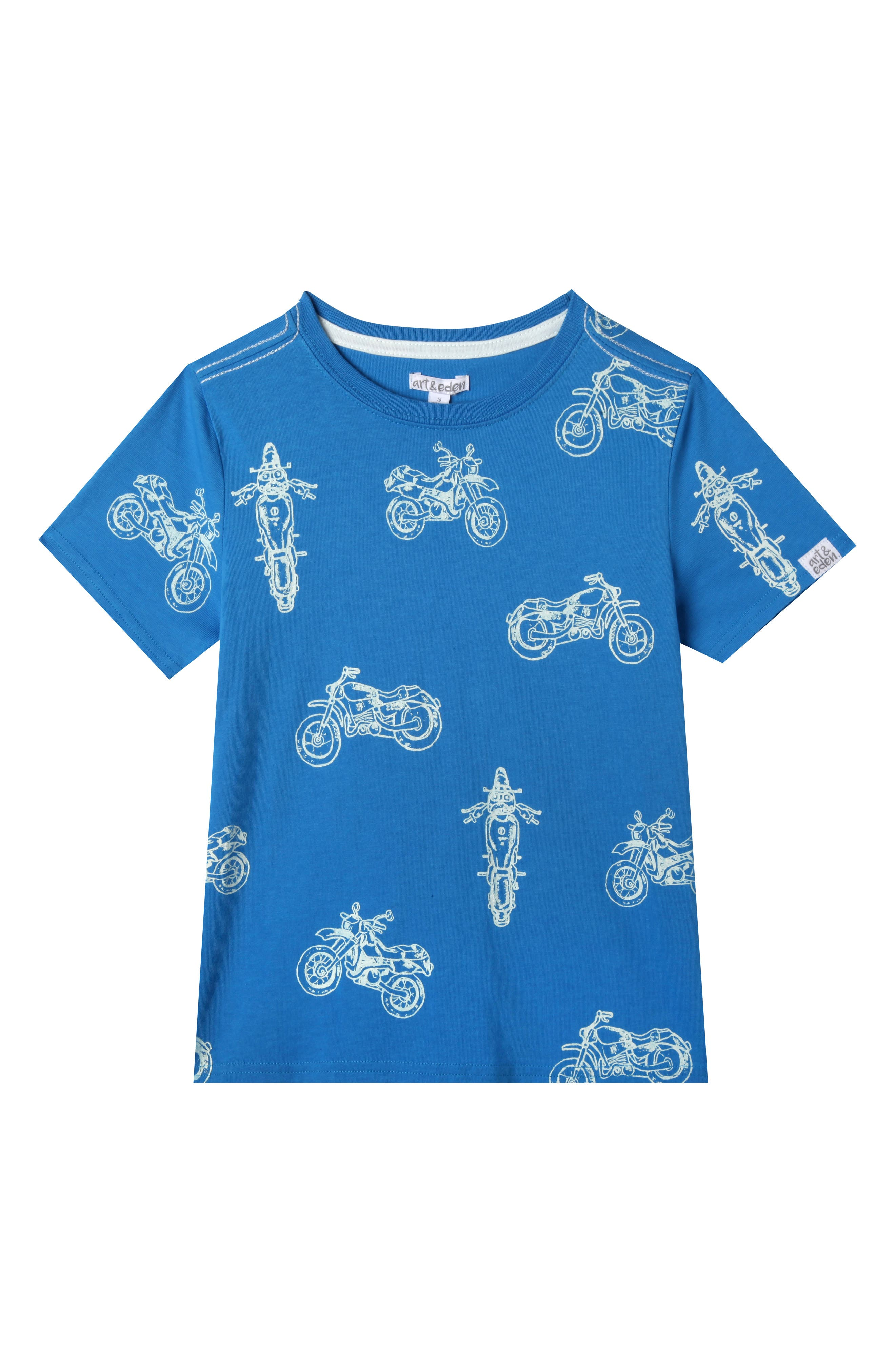 Sebastian Motorcycle Organic Cotton T-Shirt,                             Main thumbnail 1, color,                             French Blue