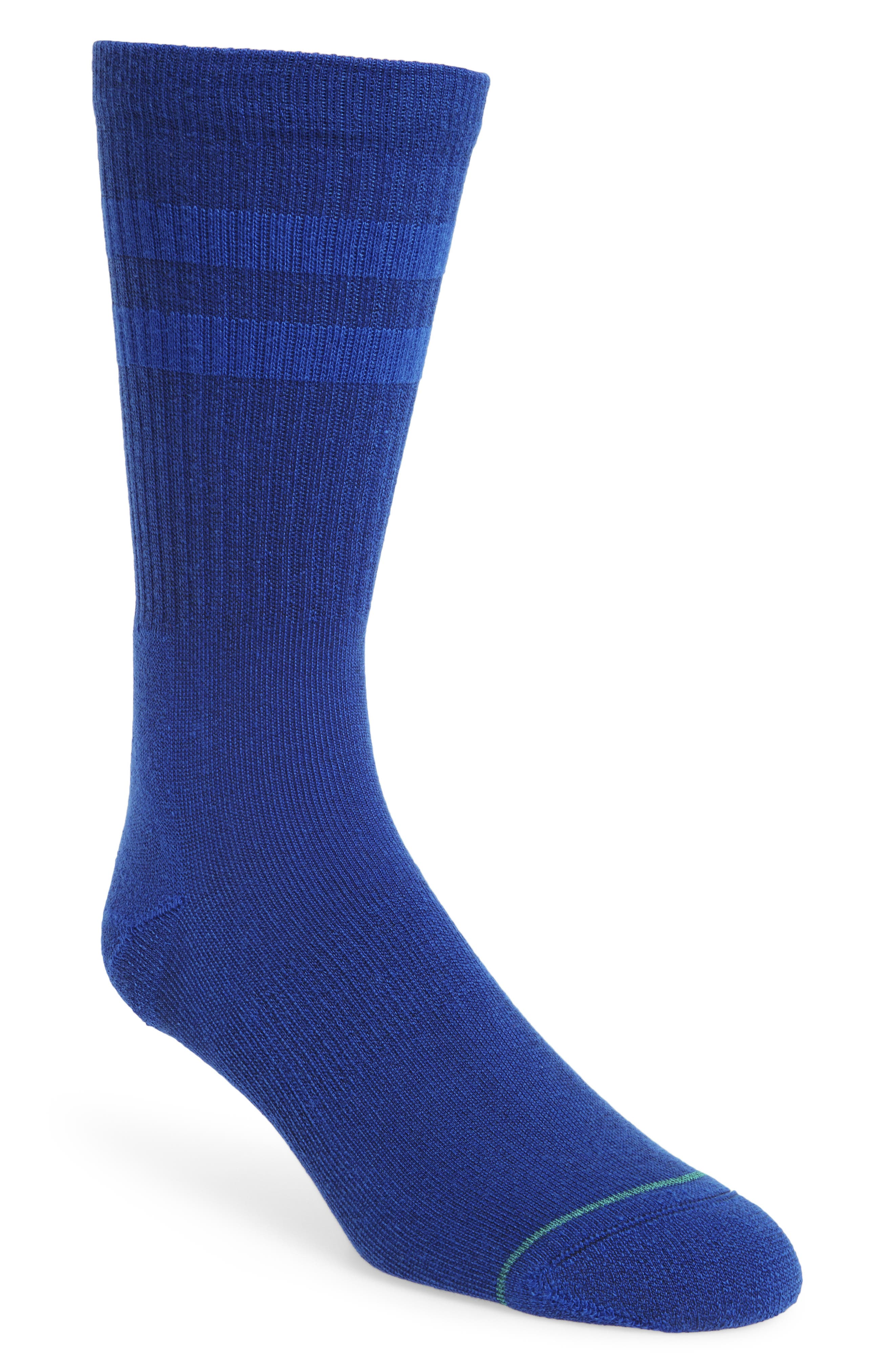 Joven Classic Crew Socks,                         Main,                         color, Primary Blue