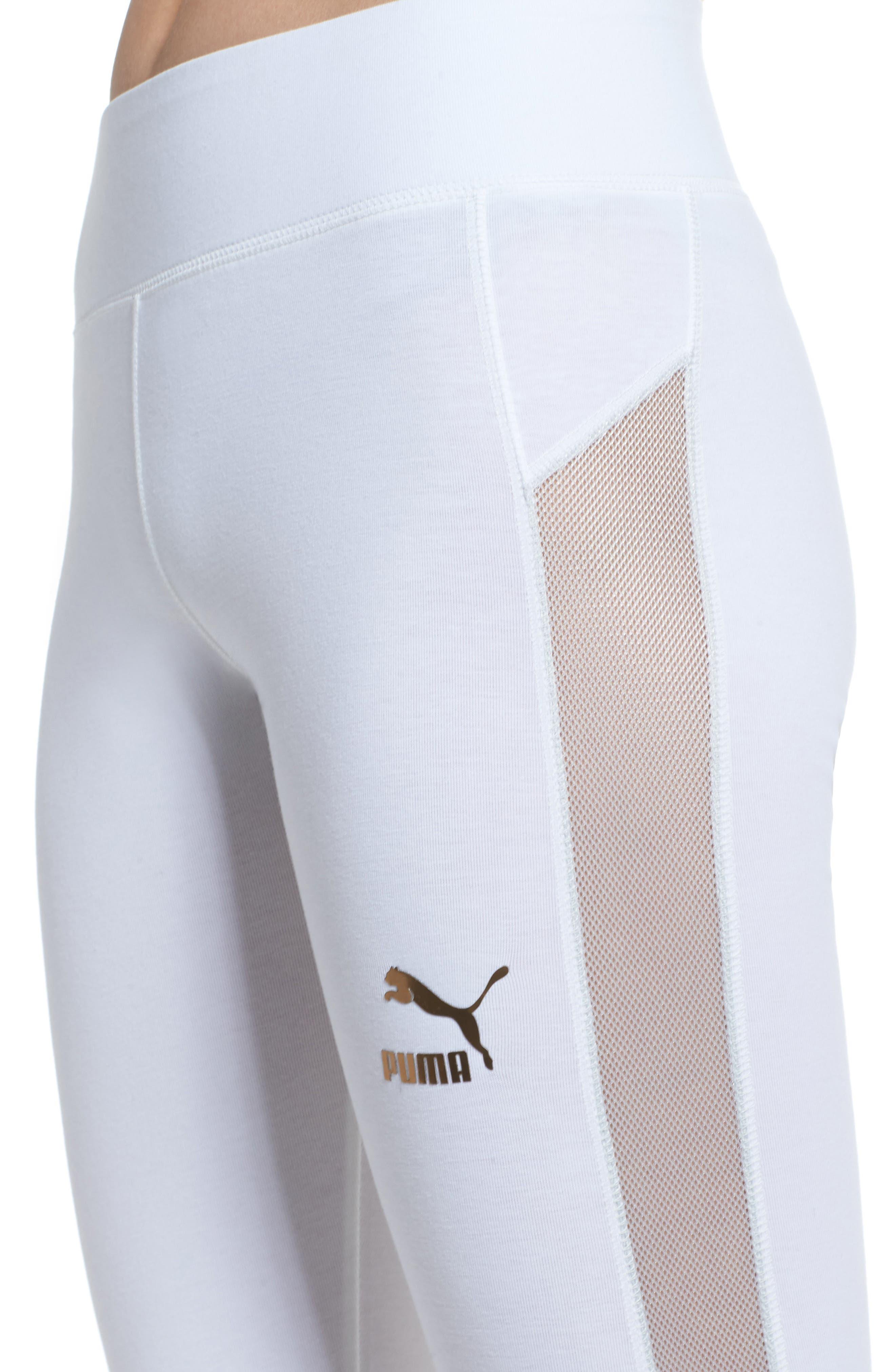 T7 Leggings,                             Alternate thumbnail 4, color,                             Puma White
