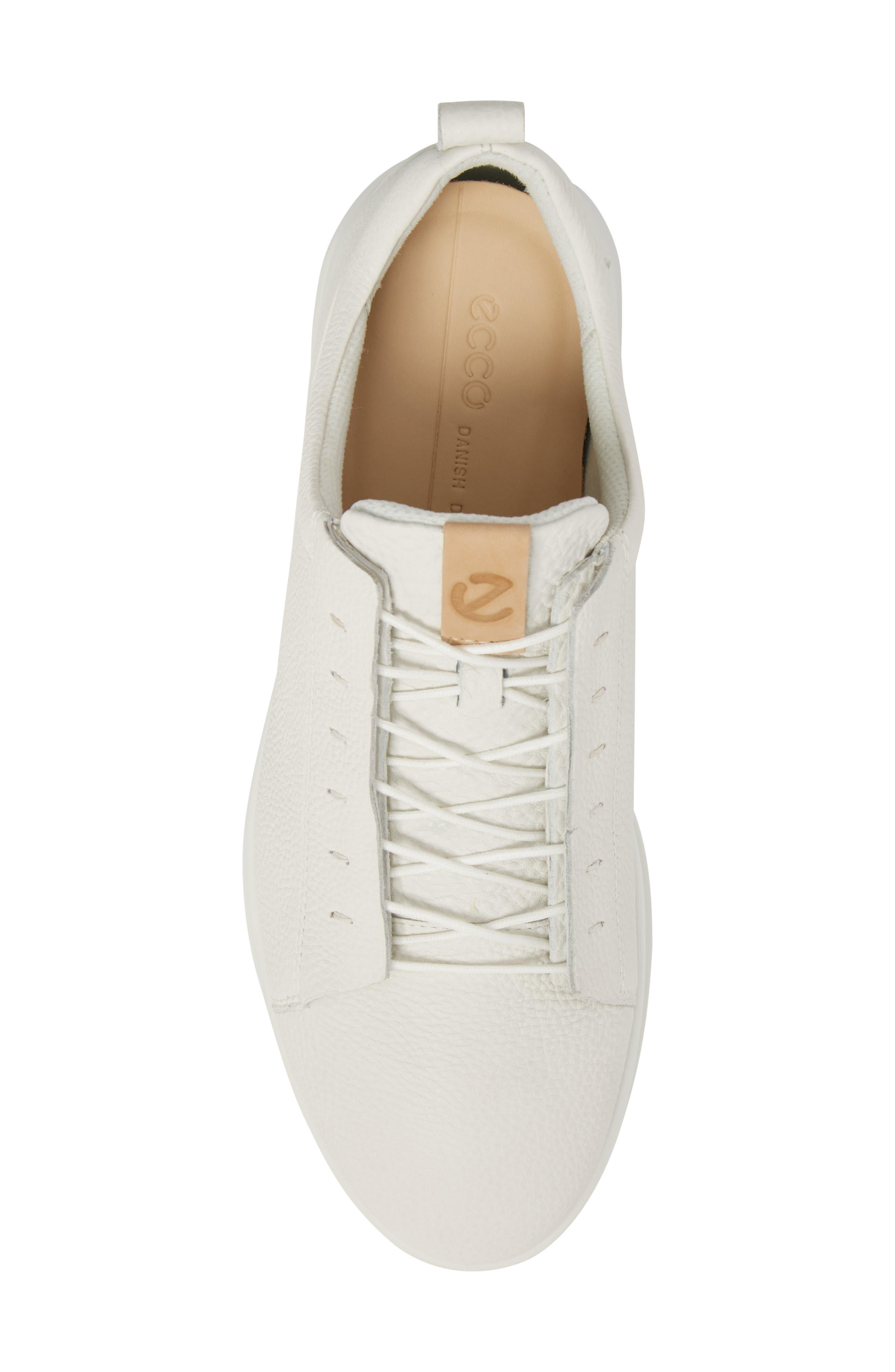 Aquet Low Top Sneaker,                             Alternate thumbnail 5, color,                             White Leather