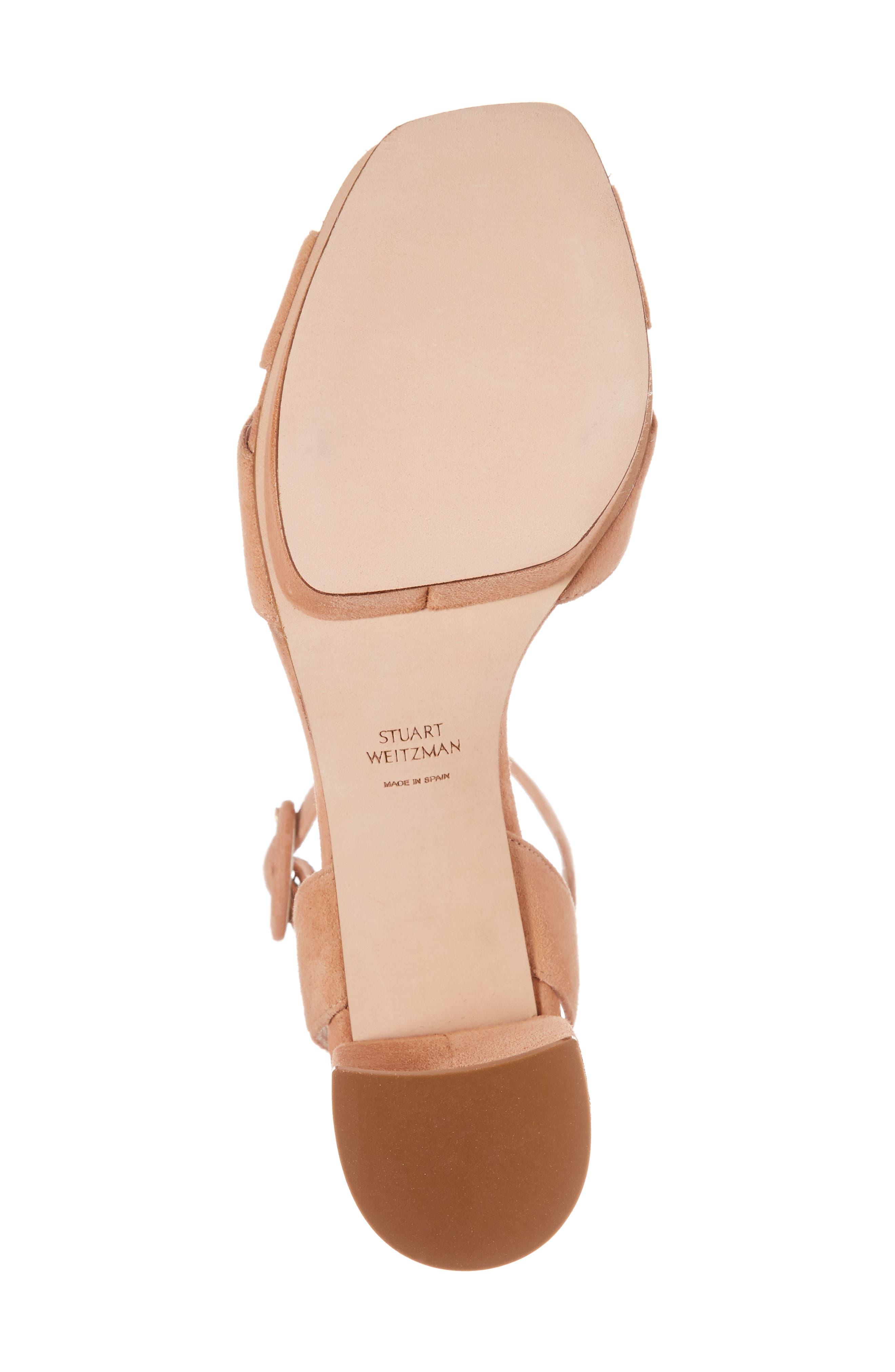 Carmina Ankle Strap Platform Sandal,                             Alternate thumbnail 6, color,                             Naked Seda Suede