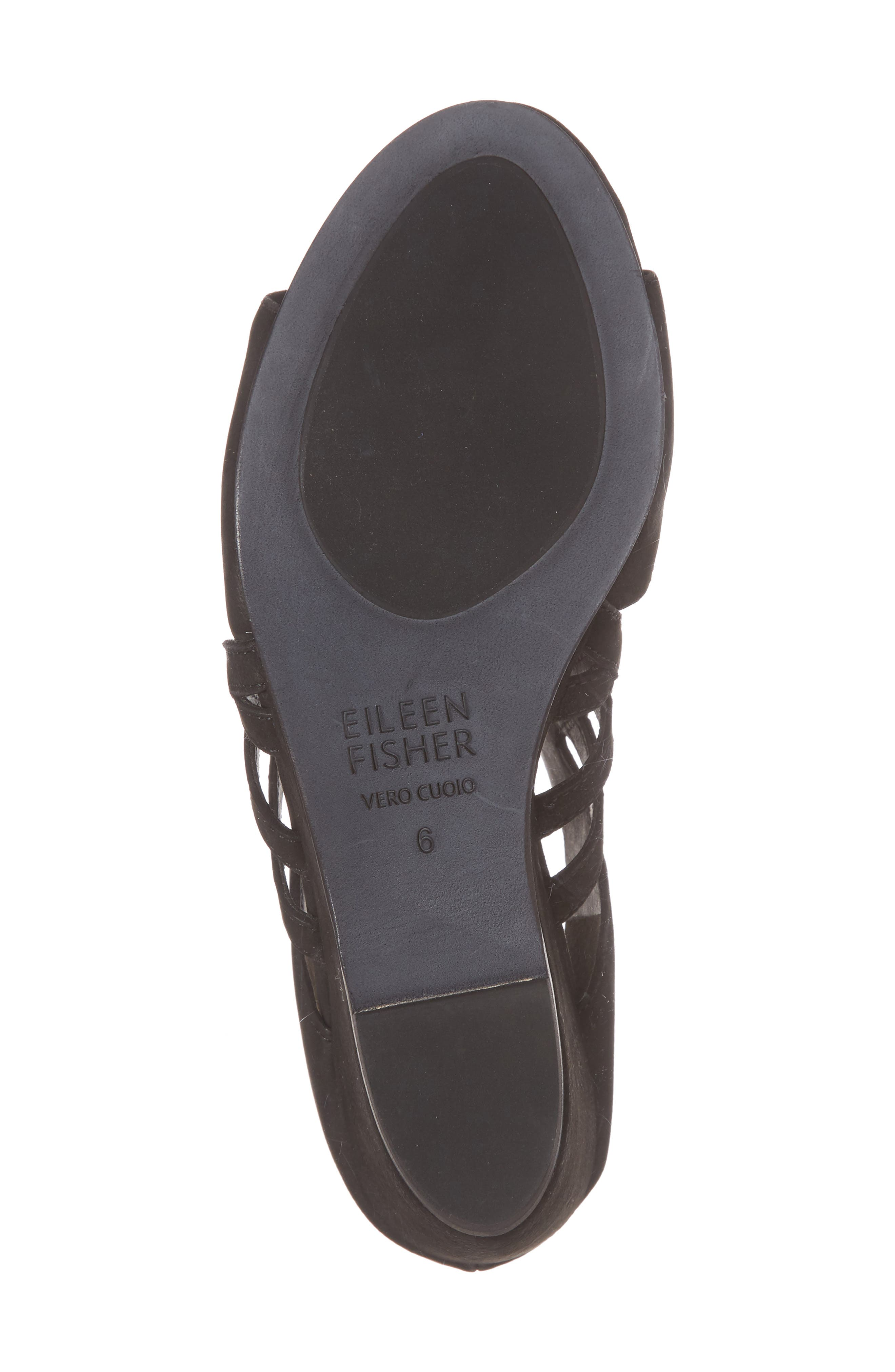 Dewey Wedge Sandal,                             Alternate thumbnail 6, color,                             Black Nubuck