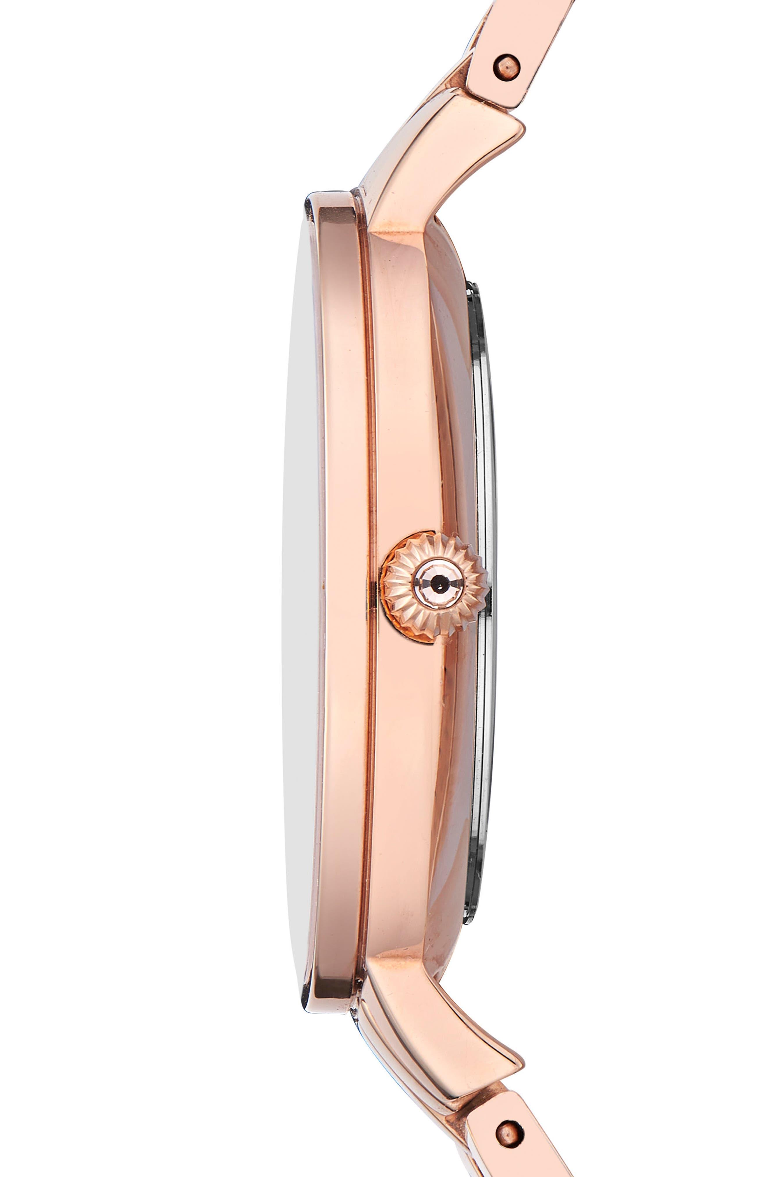 Kate Bracelet Watch, 36mm,                             Alternate thumbnail 3, color,                             Rose Gold/ Printed/ Rose Gold