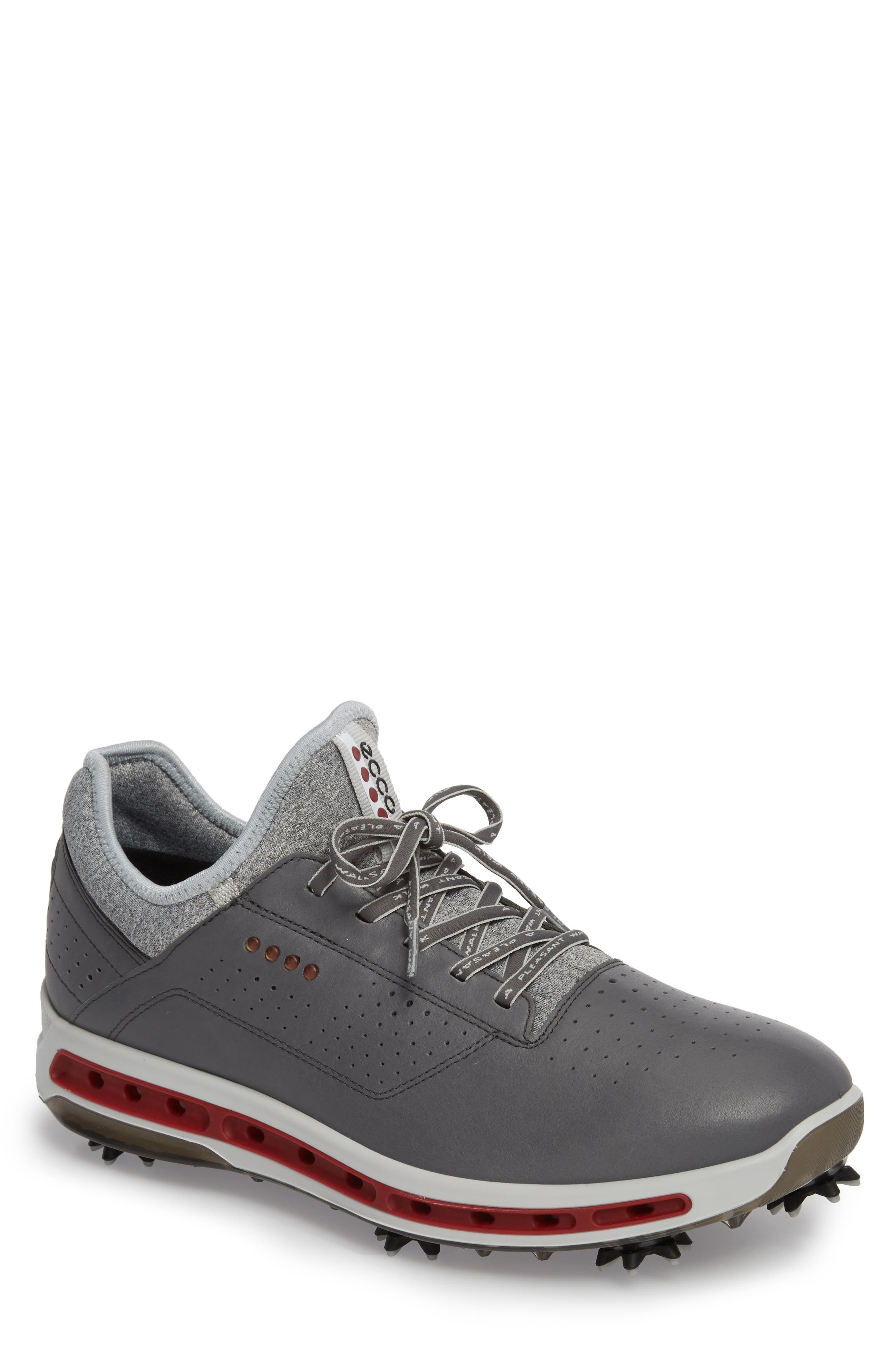 Cool 18 Gore-Tex Golf Shoe,                         Main,                         color, Dark Shadow Leather