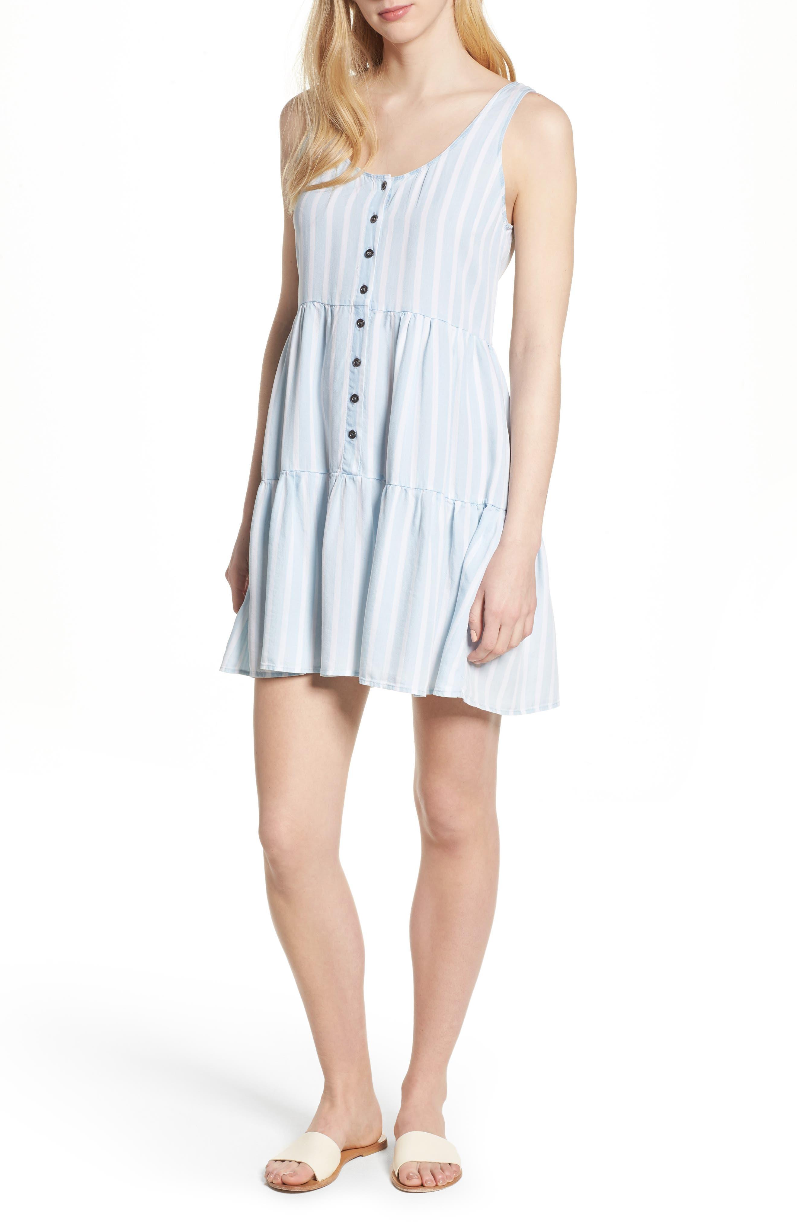 Nora Stripe Dress,                             Main thumbnail 1, color,                             Hampshire Stripe