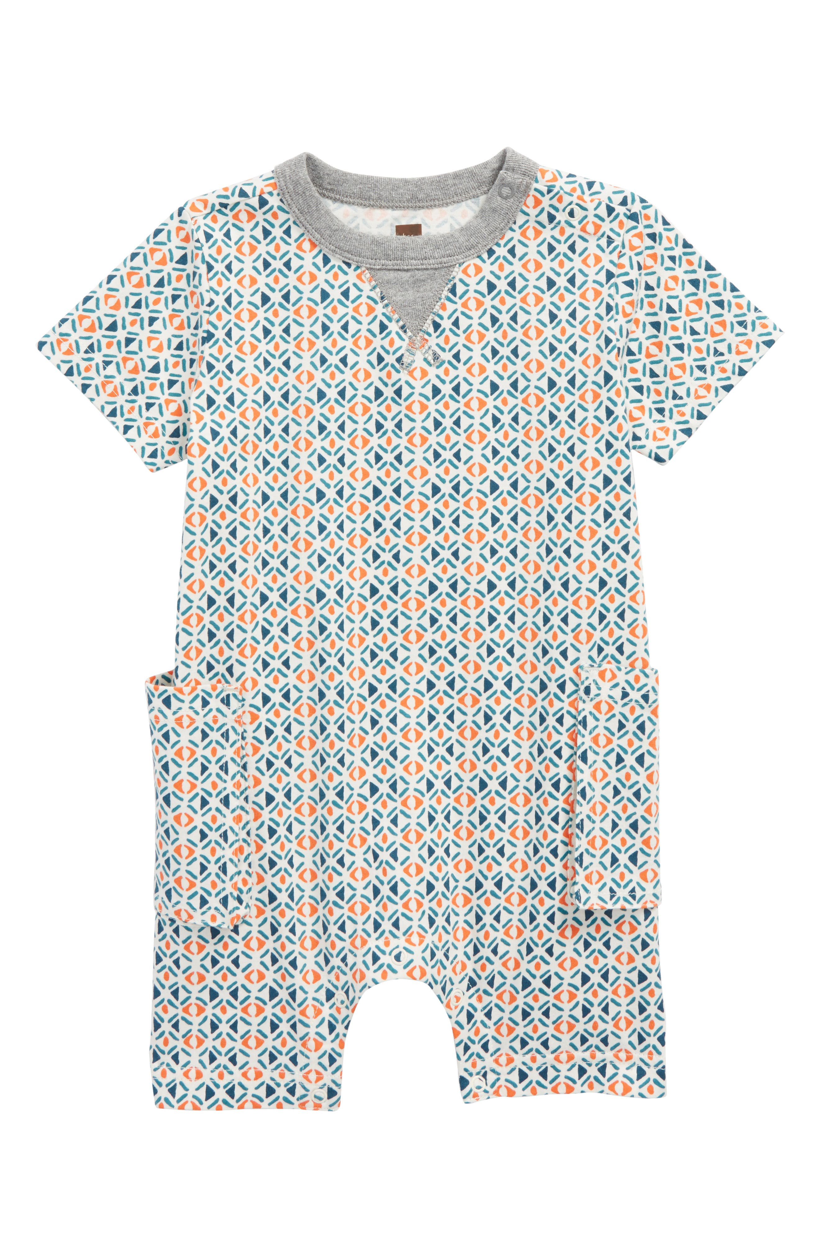 Cargo Romper,                             Main thumbnail 1, color,                             South African Geo