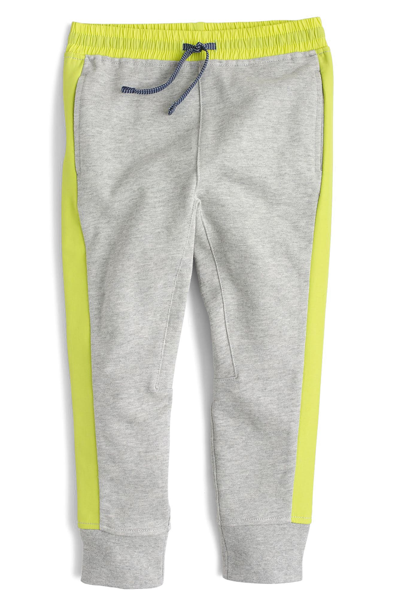 Slim Fit Side Stripe Sweatpants,                             Main thumbnail 1, color,                             Heather Grey