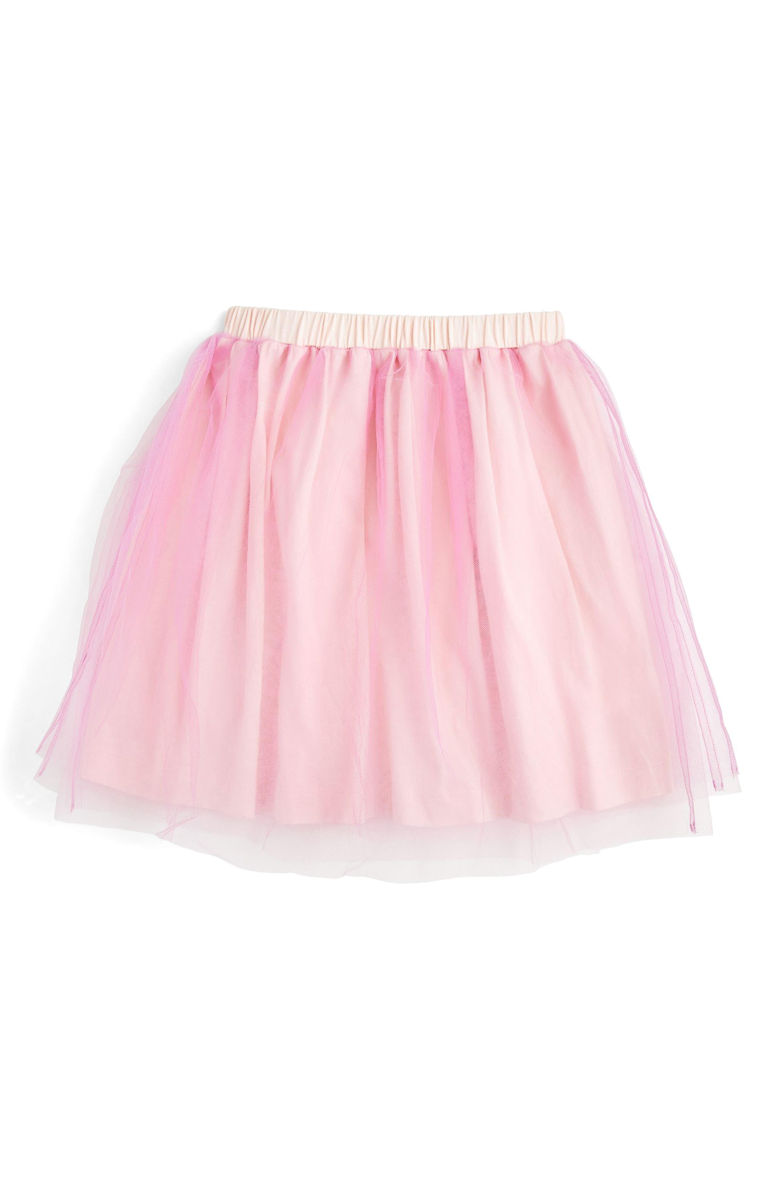 Tulle Skirt,                         Main,                         color, Orchid Pink
