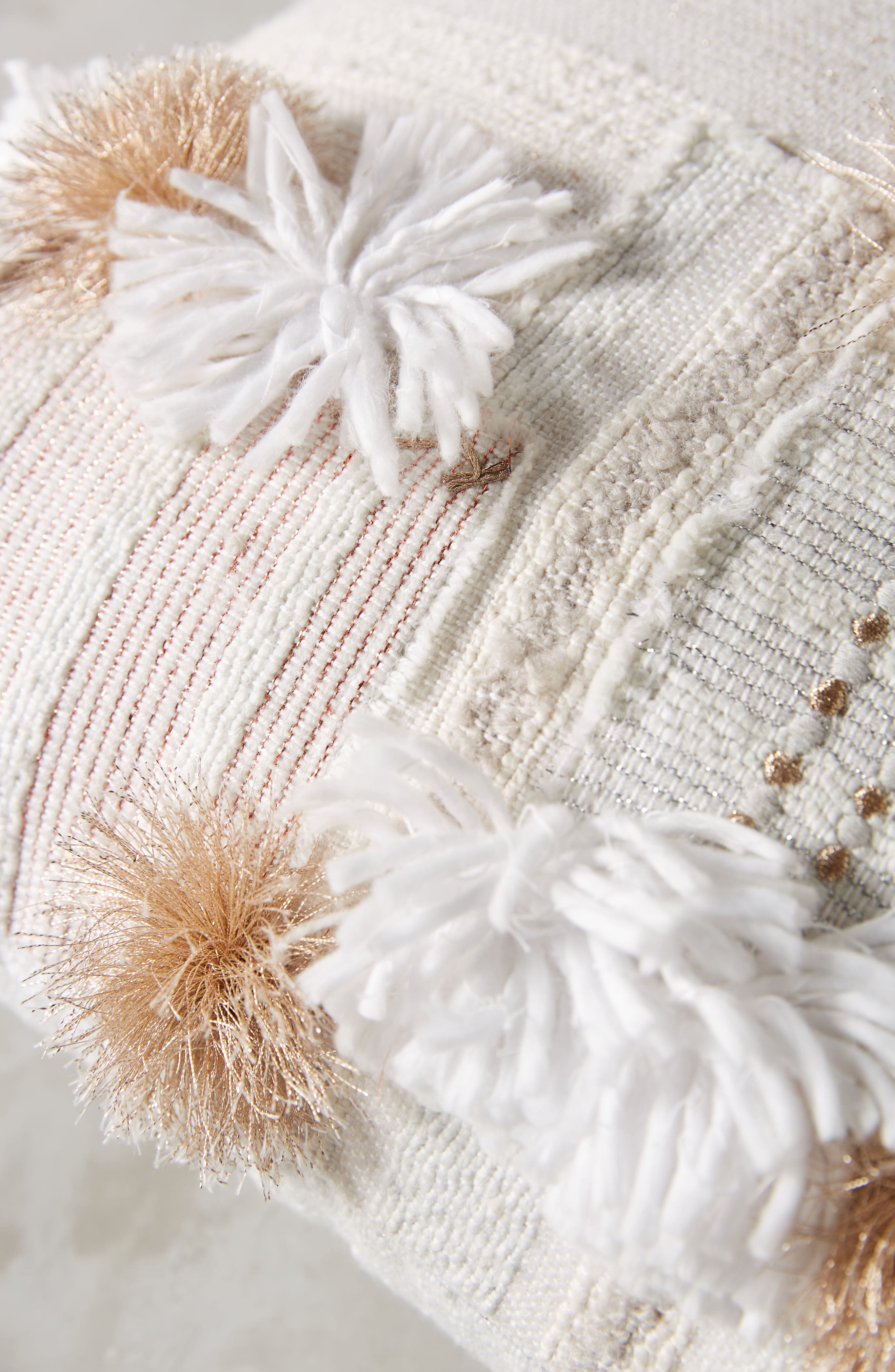 Yoursa Accent Pillow,                             Alternate thumbnail 3, color,                             Ivory