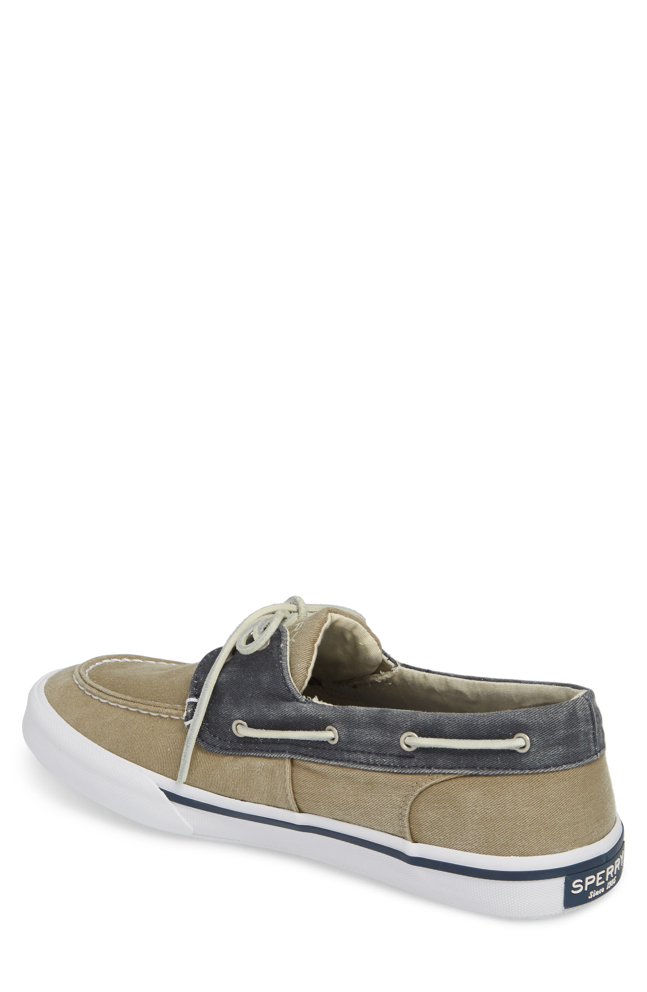 Striper II Boat Shoe,                             Alternate thumbnail 2, color,                             Taupe/ Navy