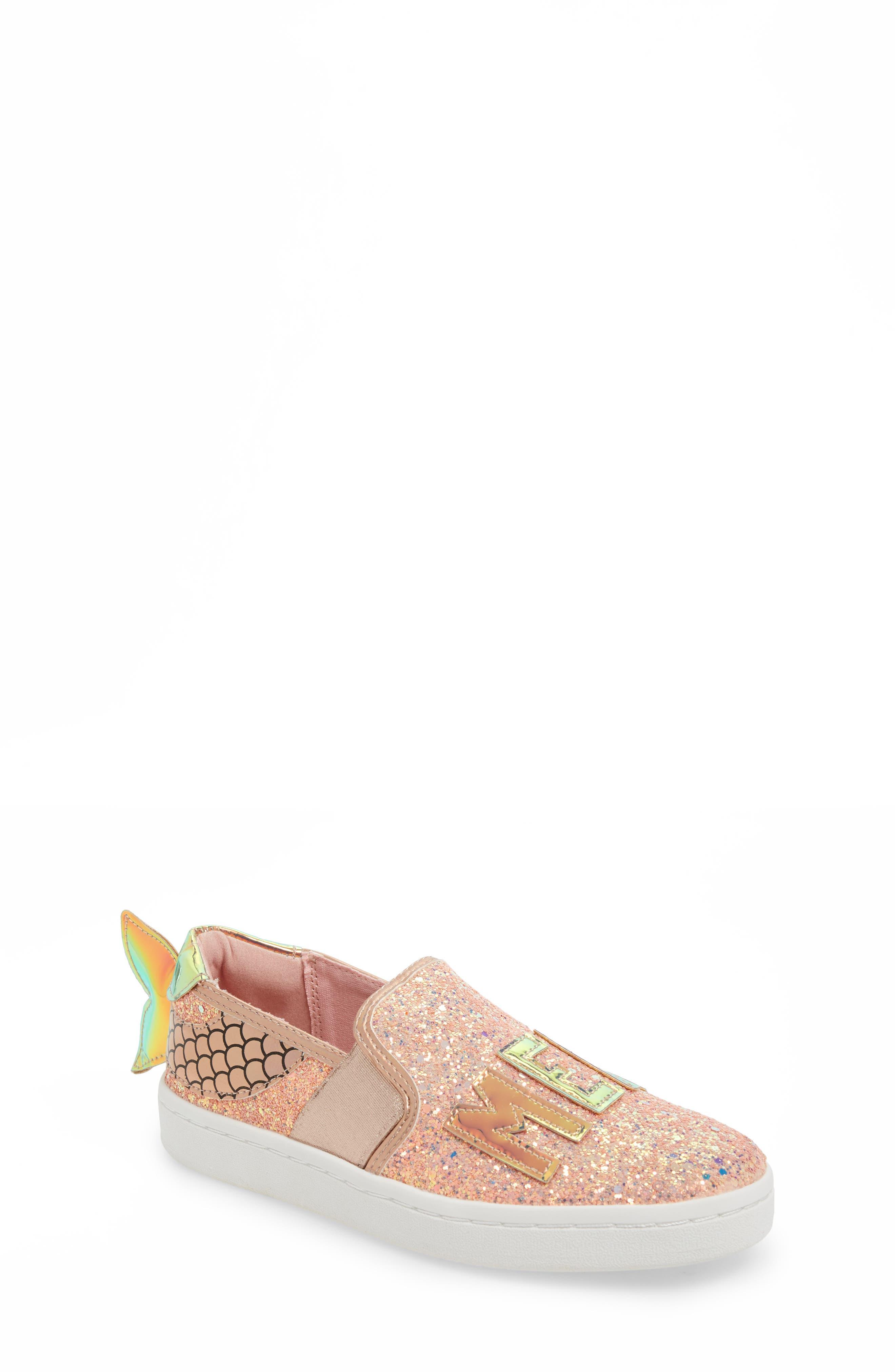 Blane Mermaid Sneaker,                             Alternate thumbnail 2, color,                             Pale Rose Gold Glitter