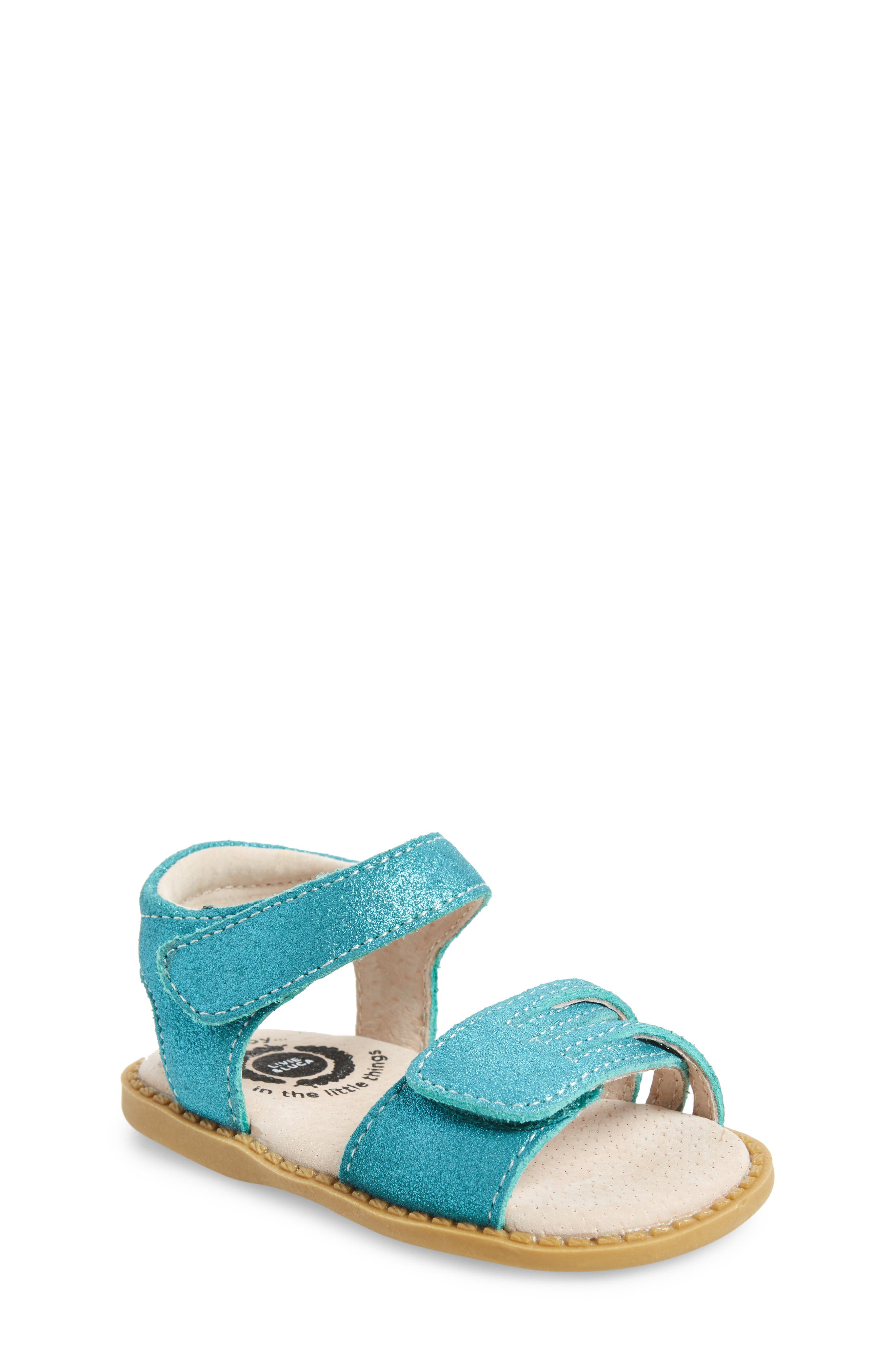 'Athena' Sandal,                             Main thumbnail 1, color,                             Aqua Shimmer