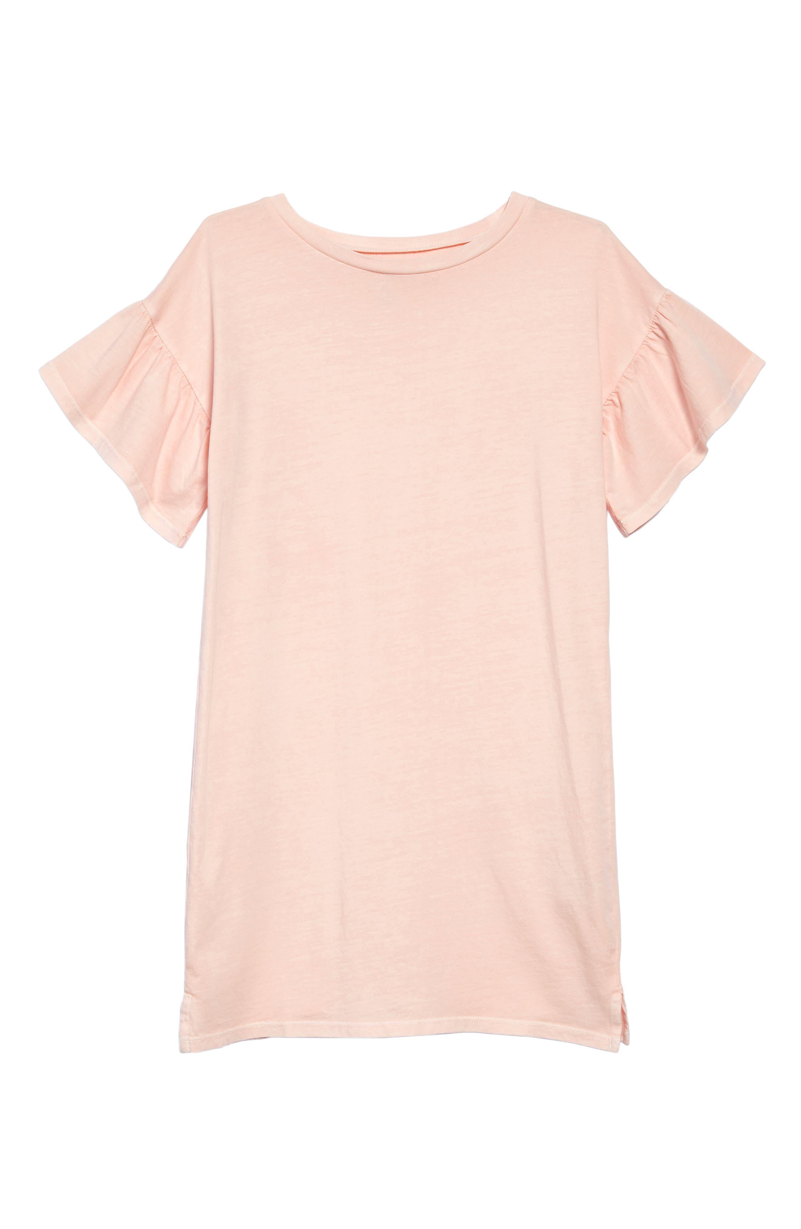 Treasure & Bond Ruffle Sleeve T-Shirt Dress (Big Girls)