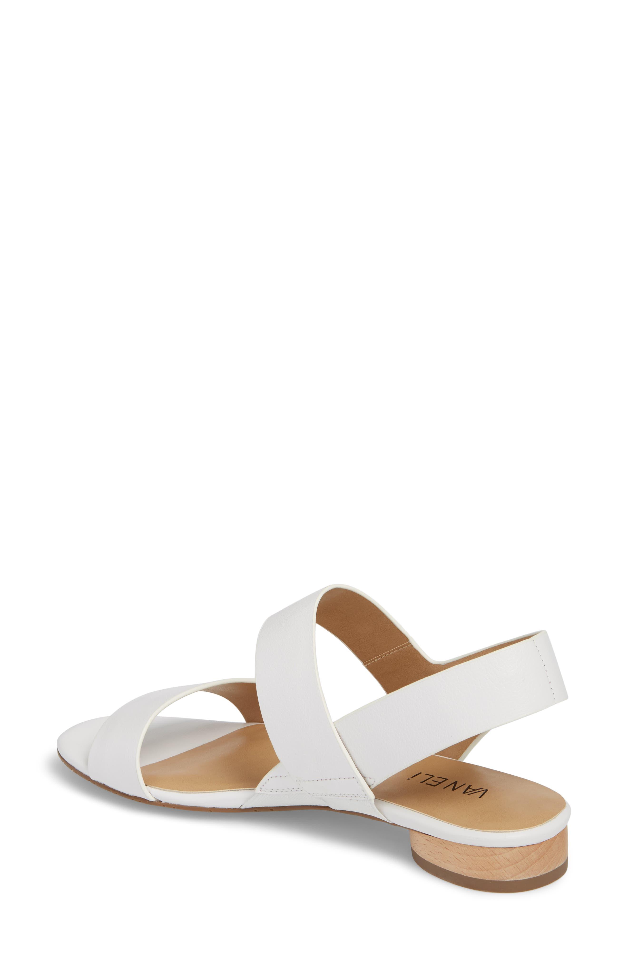 Blanka Sandal,                             Alternate thumbnail 2, color,                             White Leather