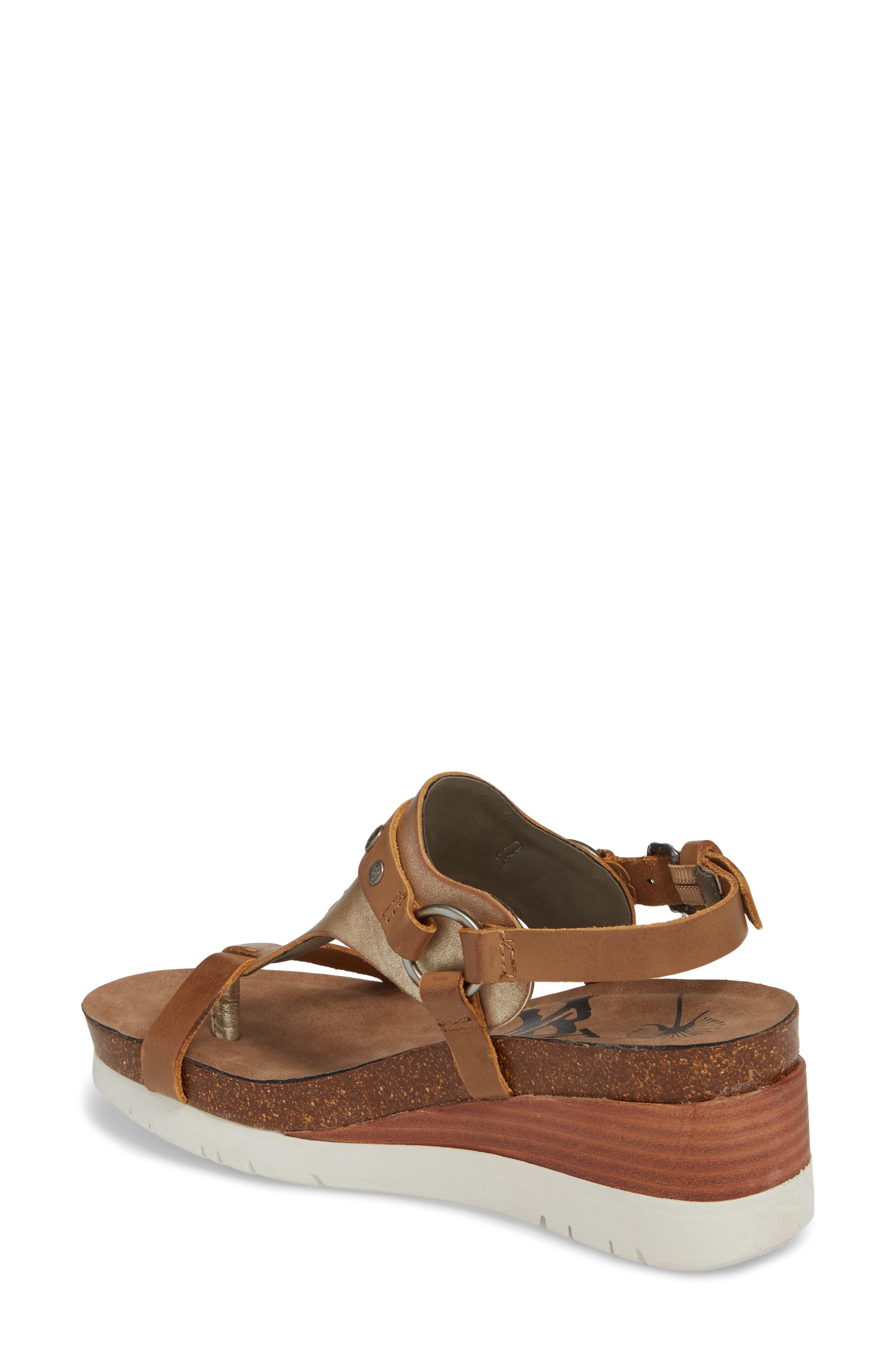 Maverick Wedge Sandal,                             Alternate thumbnail 2, color,                             New Taupe Leather