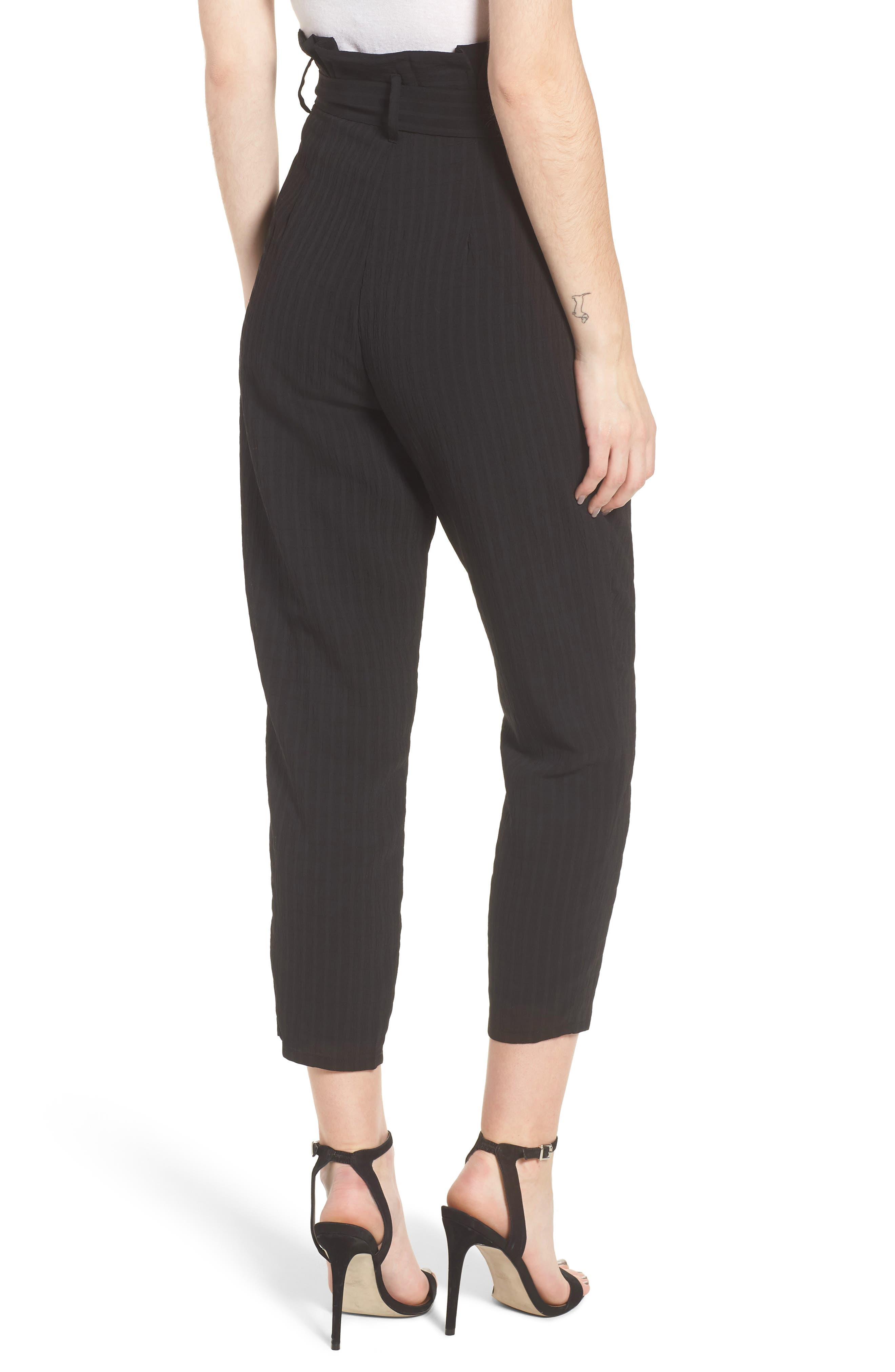 Irving High Waist Crop Pants,                             Alternate thumbnail 3, color,                             Night