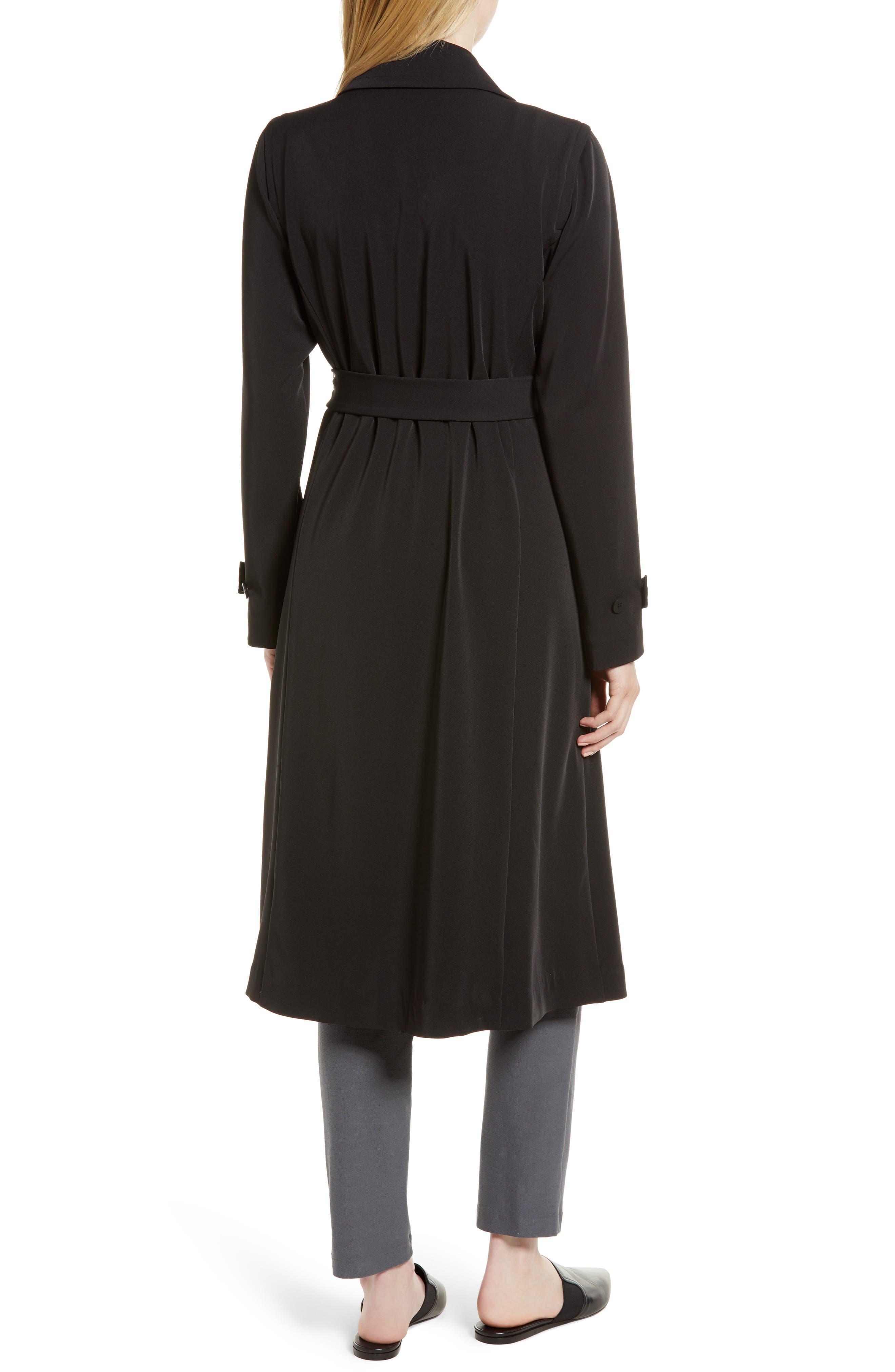 Trench Coat,                             Alternate thumbnail 2, color,                             Black