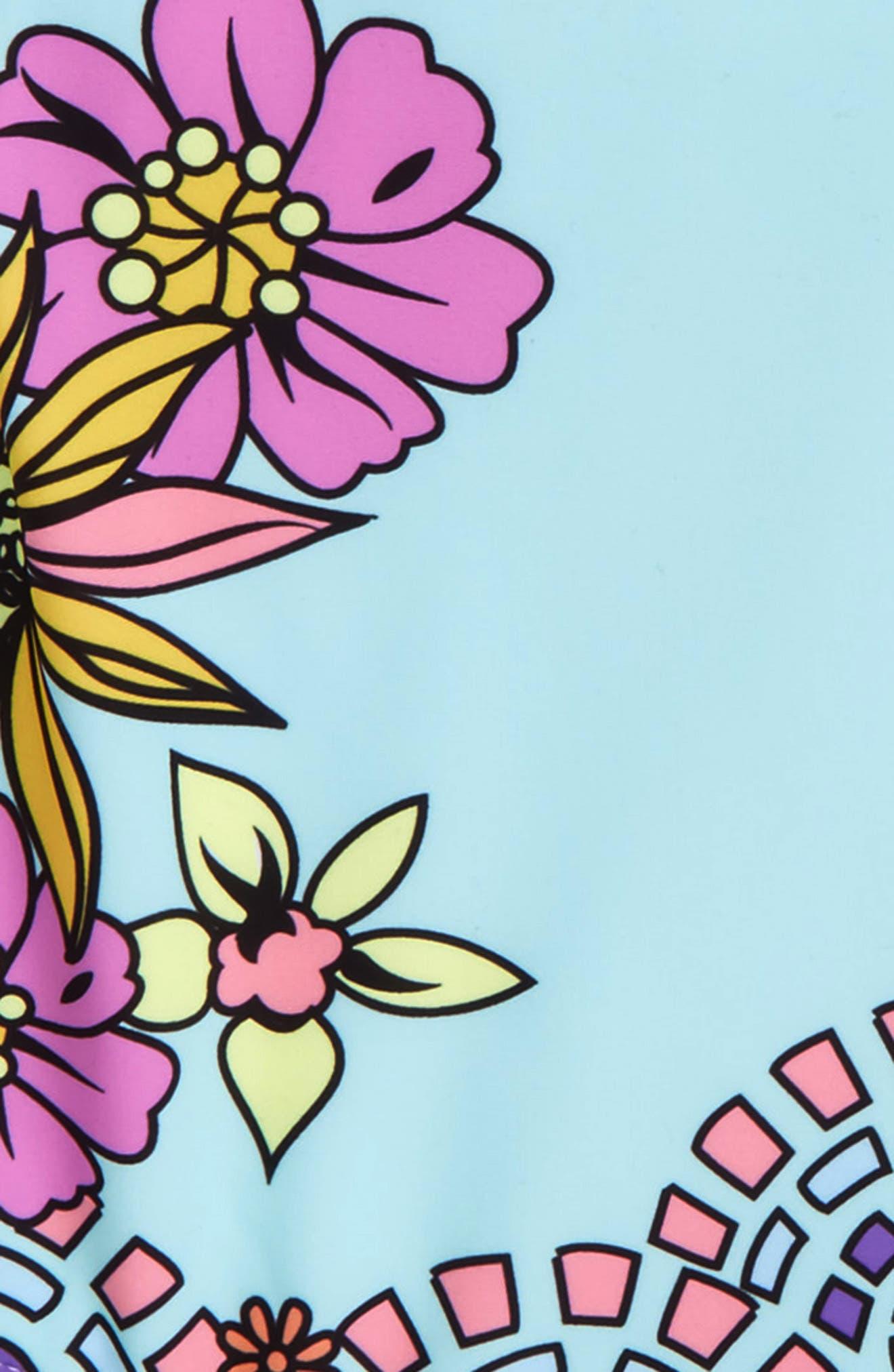 Lara One-Piece Swimsuit,                             Alternate thumbnail 2, color,                             Blue