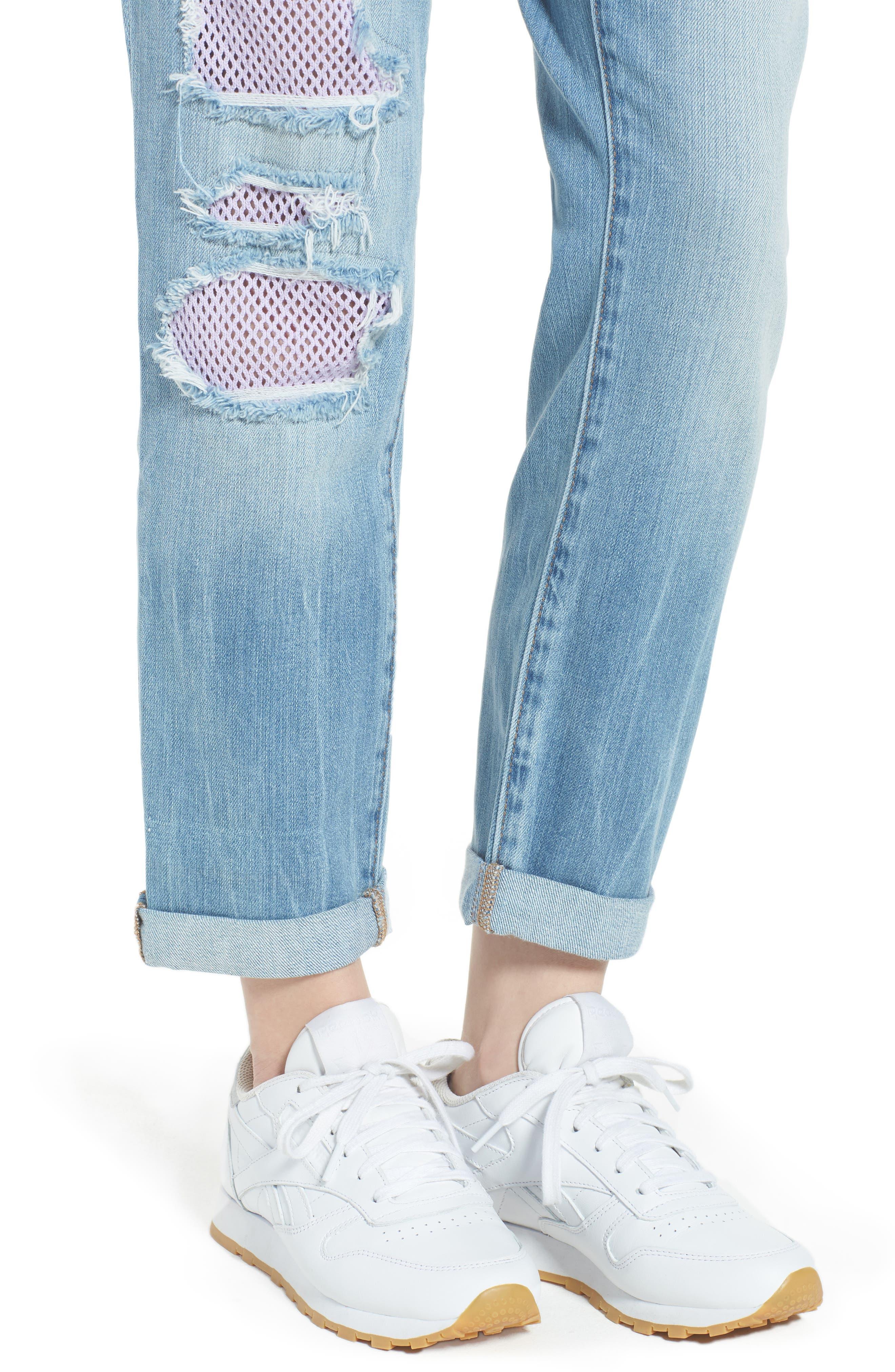 Cameron Slim Boyfriend Jeans,                             Alternate thumbnail 4, color,                             Esgl Second Quarter
