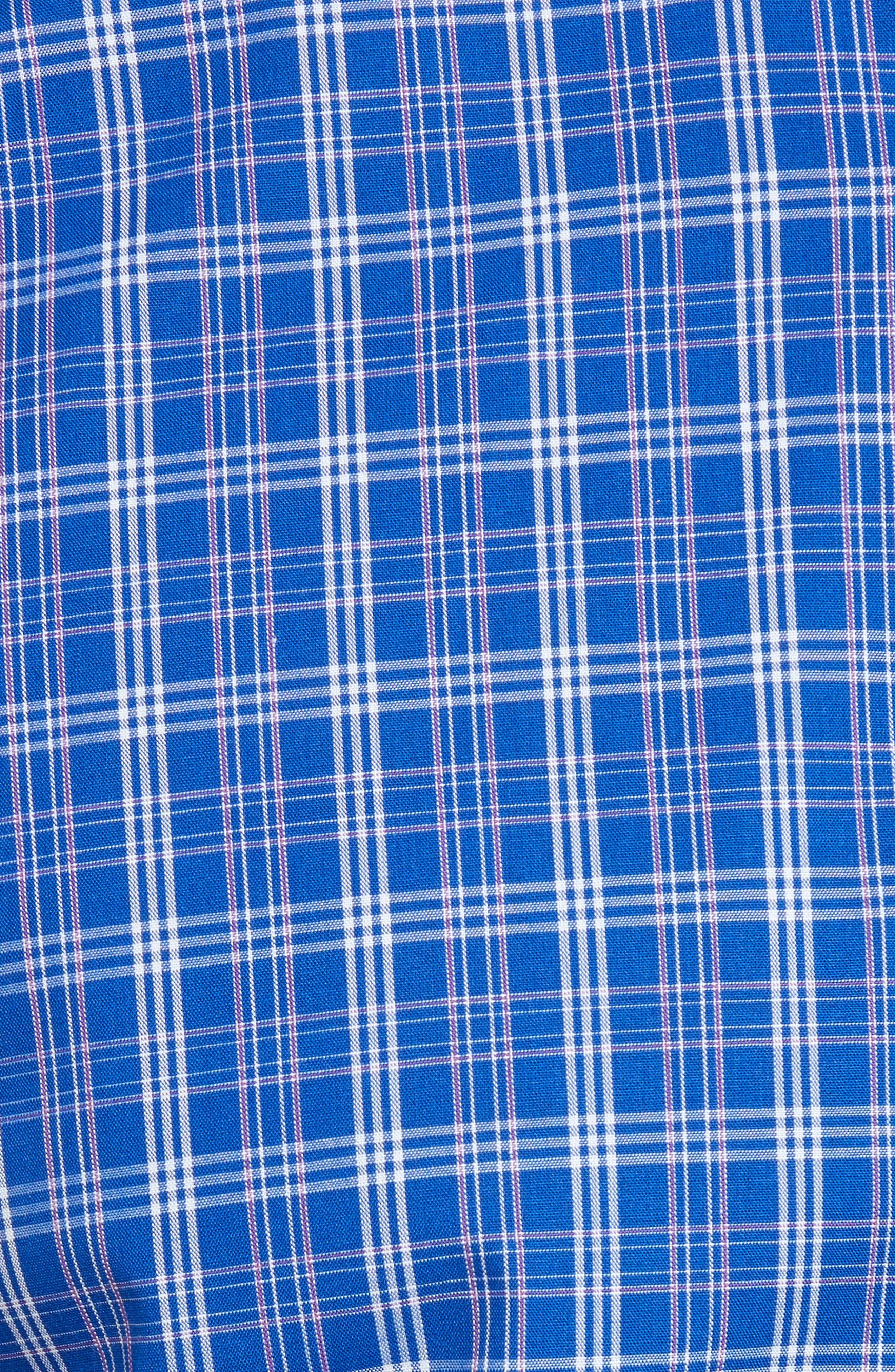 Leo Plaid Easy Care Woven Shirt,                             Alternate thumbnail 5, color,                             Bolt