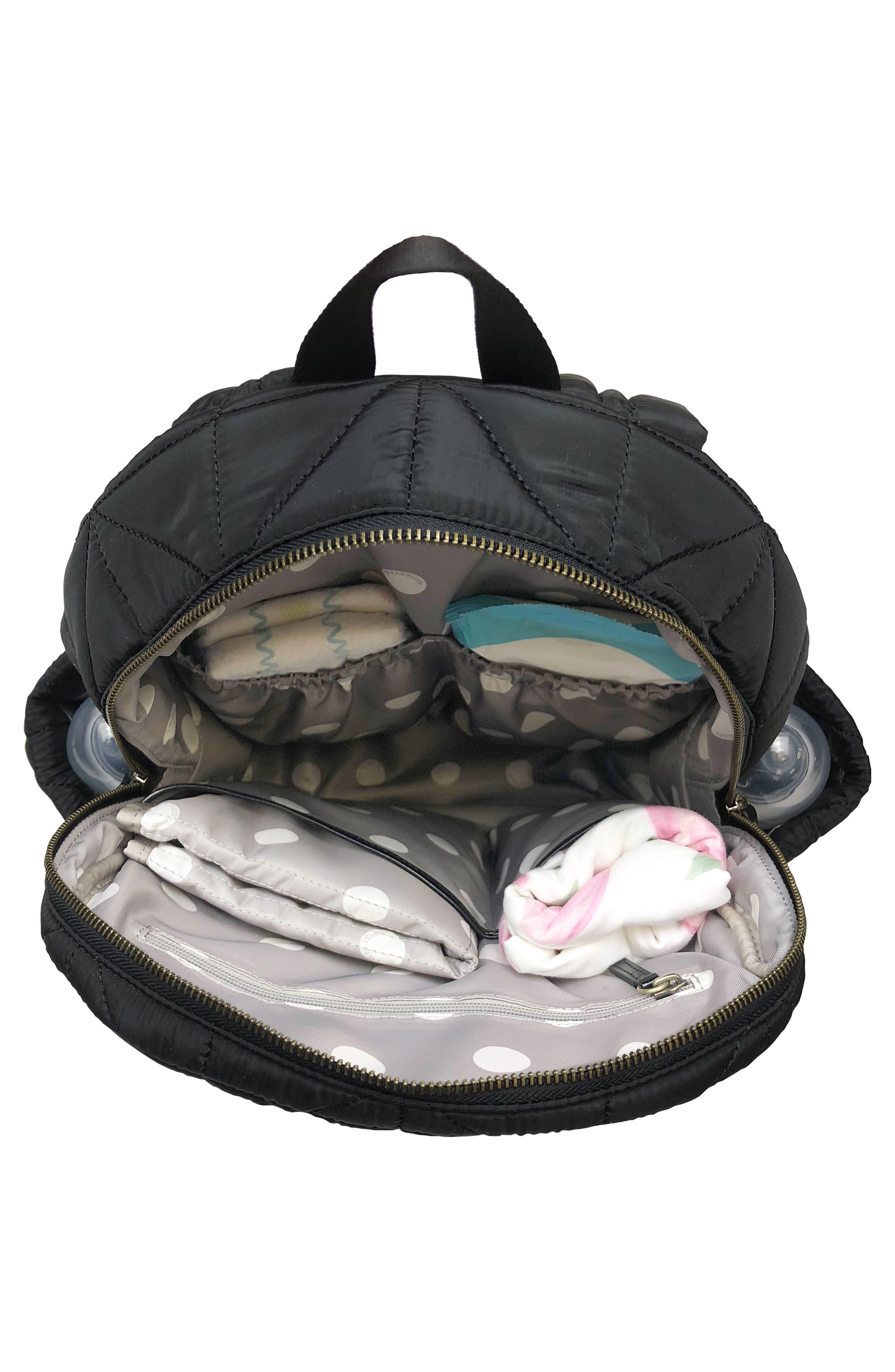 Alternate Image 4  - TWELVElittle Quilted Water Resistant Nylon Diaper Backpack