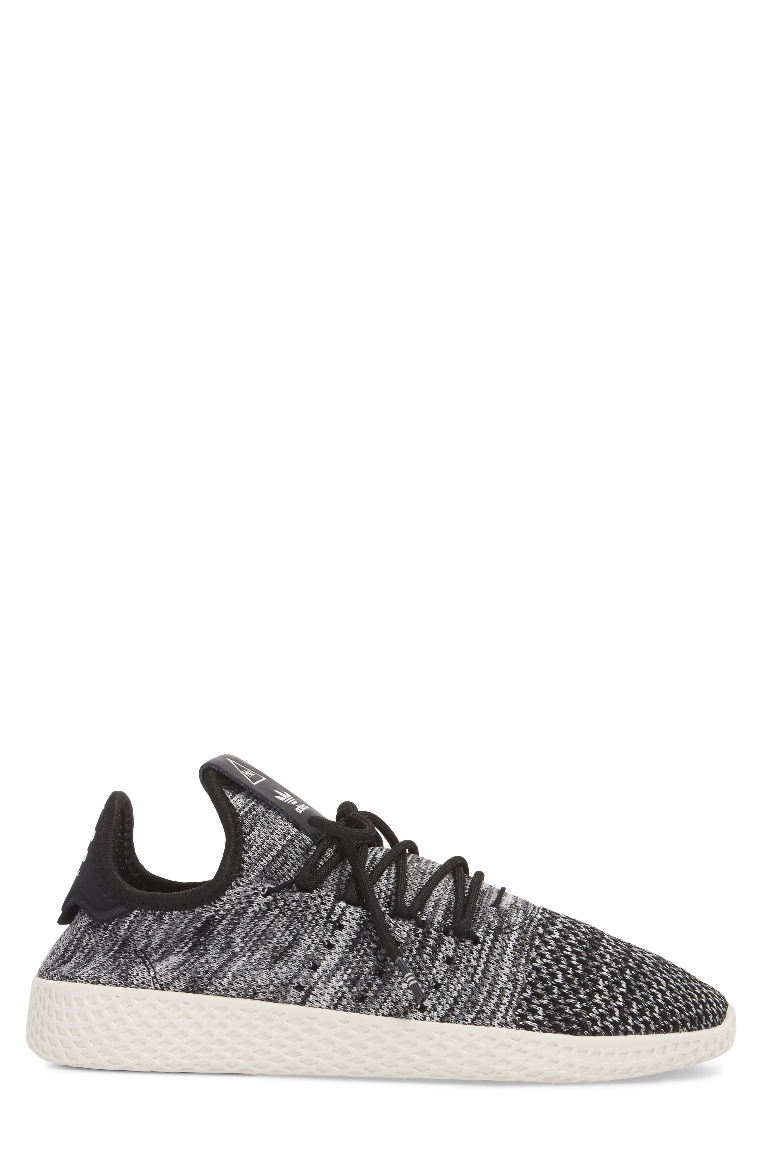 Pharrell Williams Tennis Hu Sneaker,                             Alternate thumbnail 3, color,                             Chalk White/ Core Black/ White