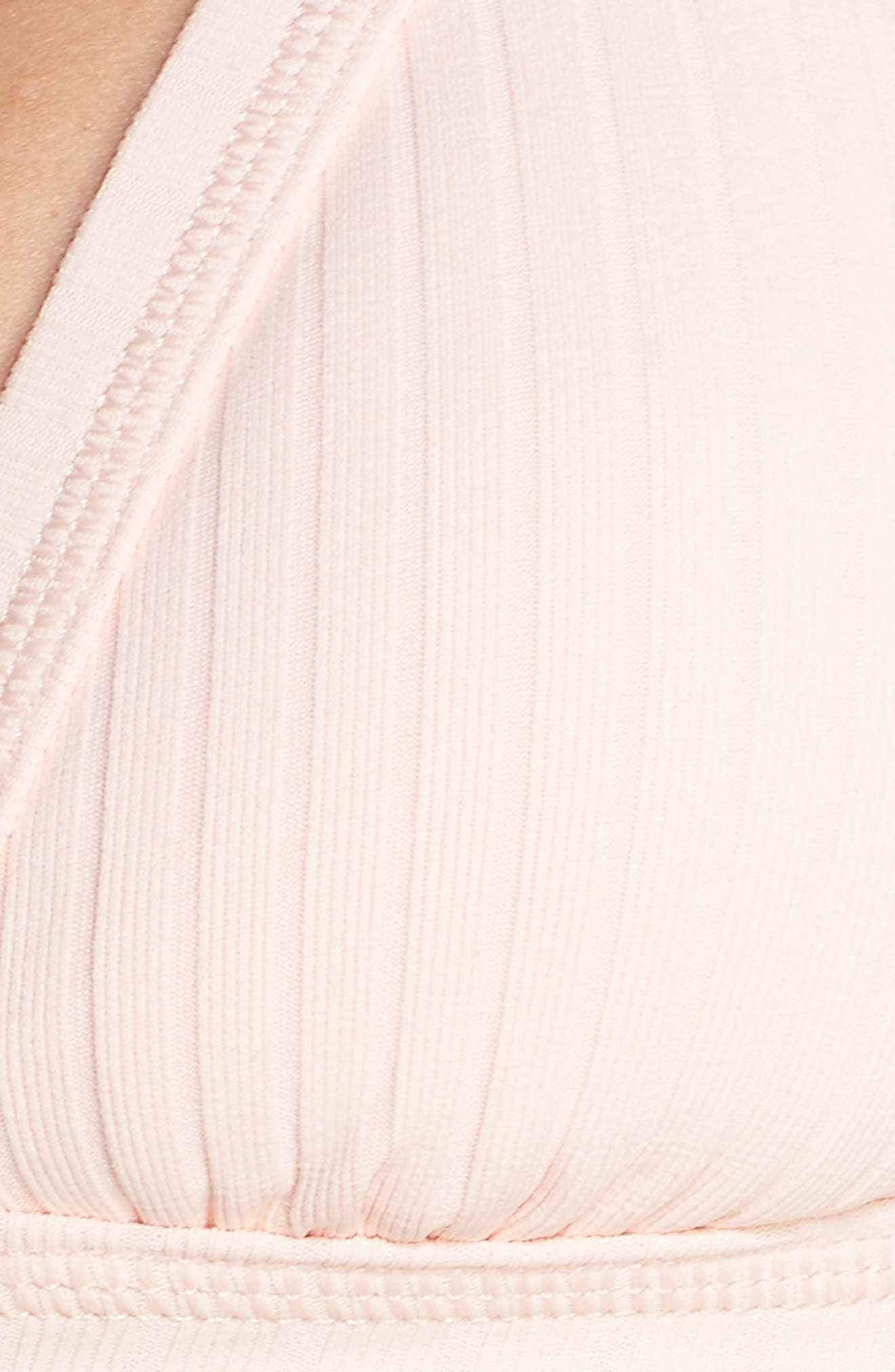 Inka Ribbed Bikini Top,                             Alternate thumbnail 8, color,                             Rose Pink