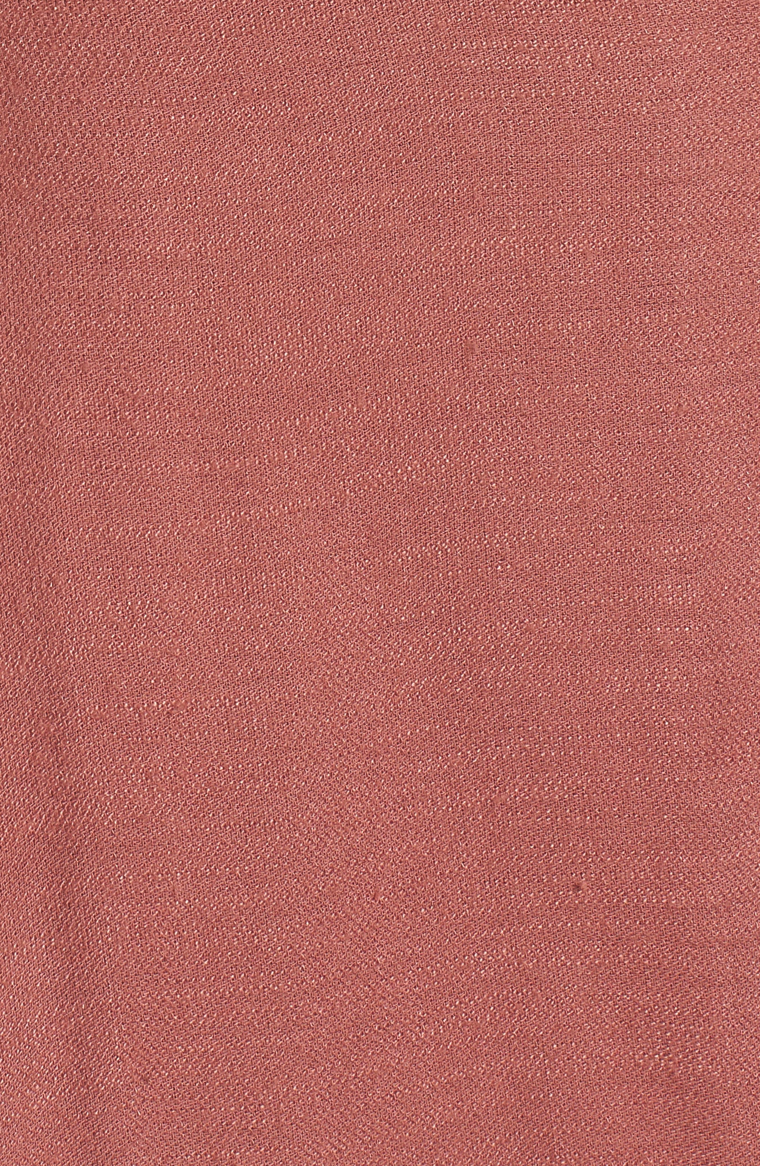 Button Front Dress,                             Alternate thumbnail 5, color,                             Coral Cedar