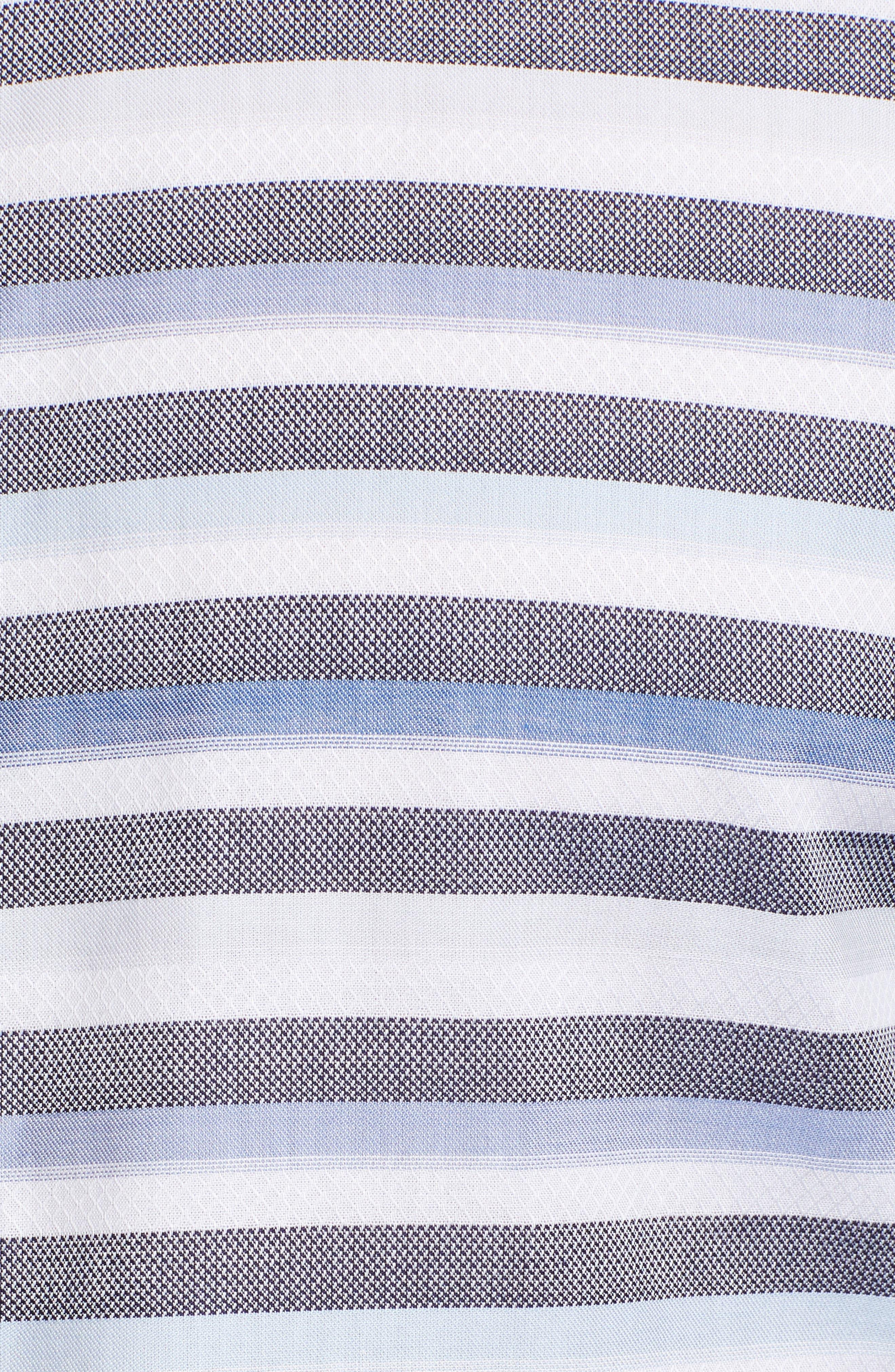 Stripe Sport Shirt,                             Alternate thumbnail 5, color,                             Blue