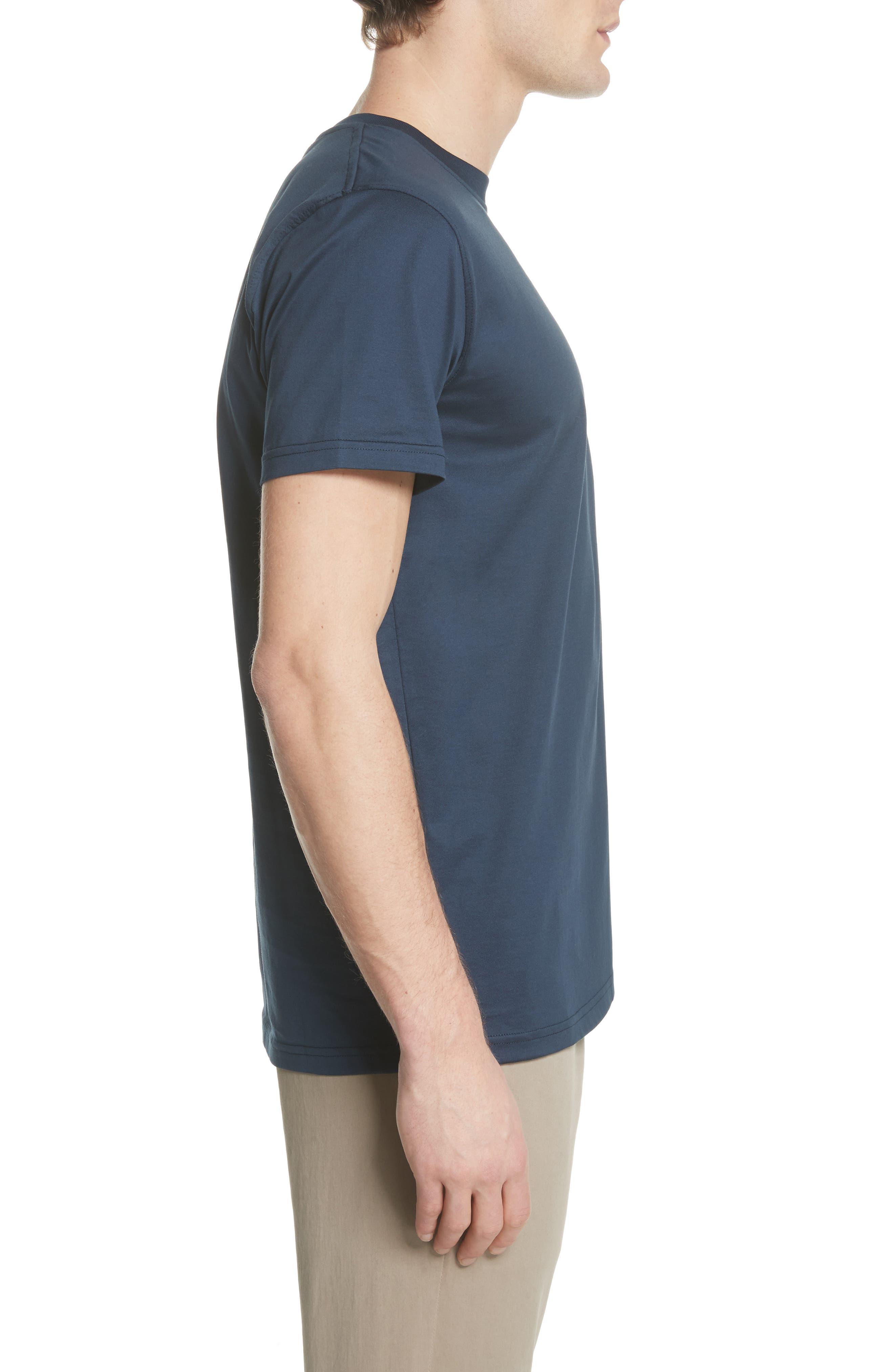 Niels N-Logo T-Shirt,                             Alternate thumbnail 3, color,                             Dark Navy