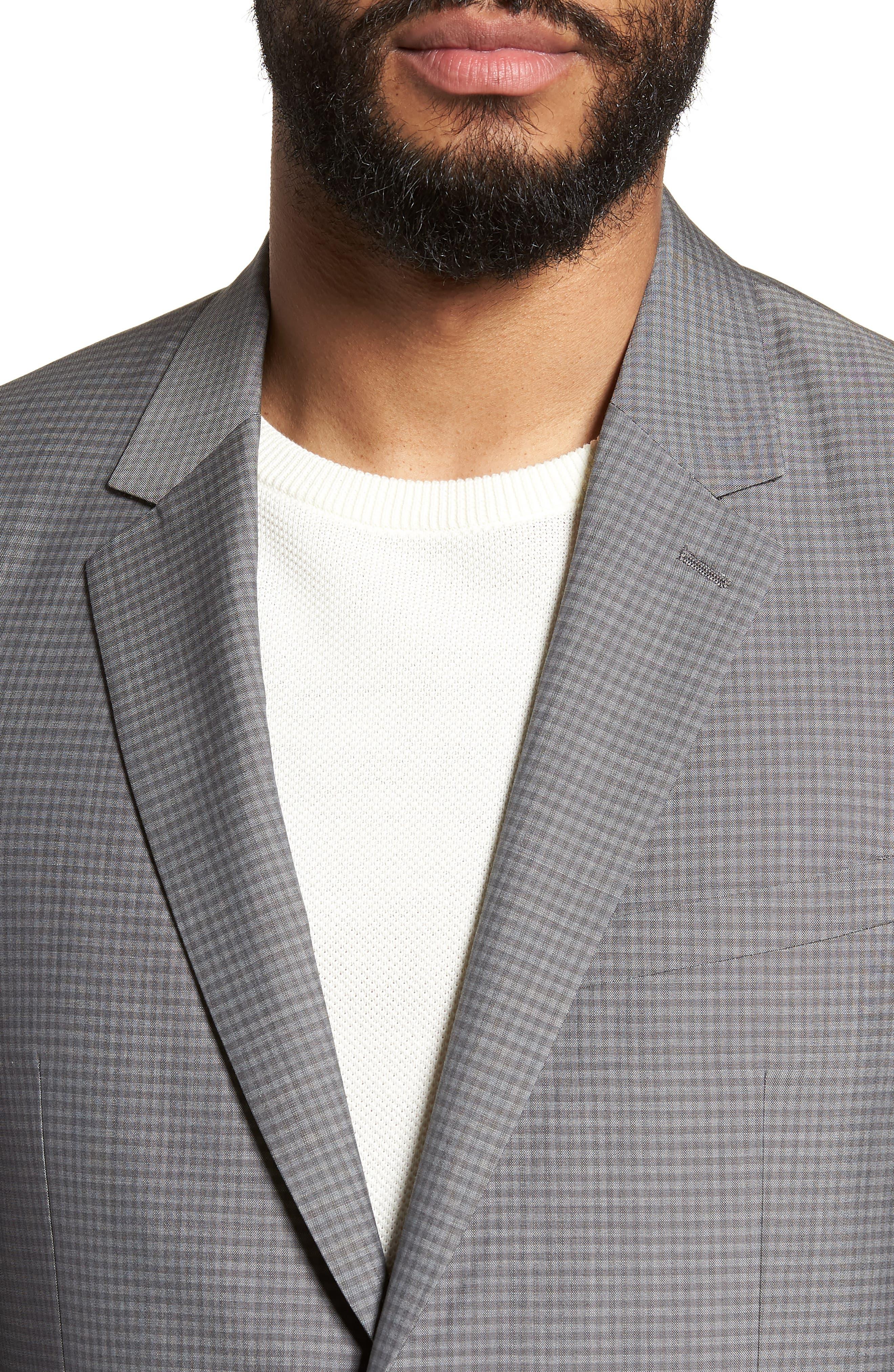Gansevoort Trim Fit Check Wool Sport Coat,                             Alternate thumbnail 4, color,                             Dove Multi