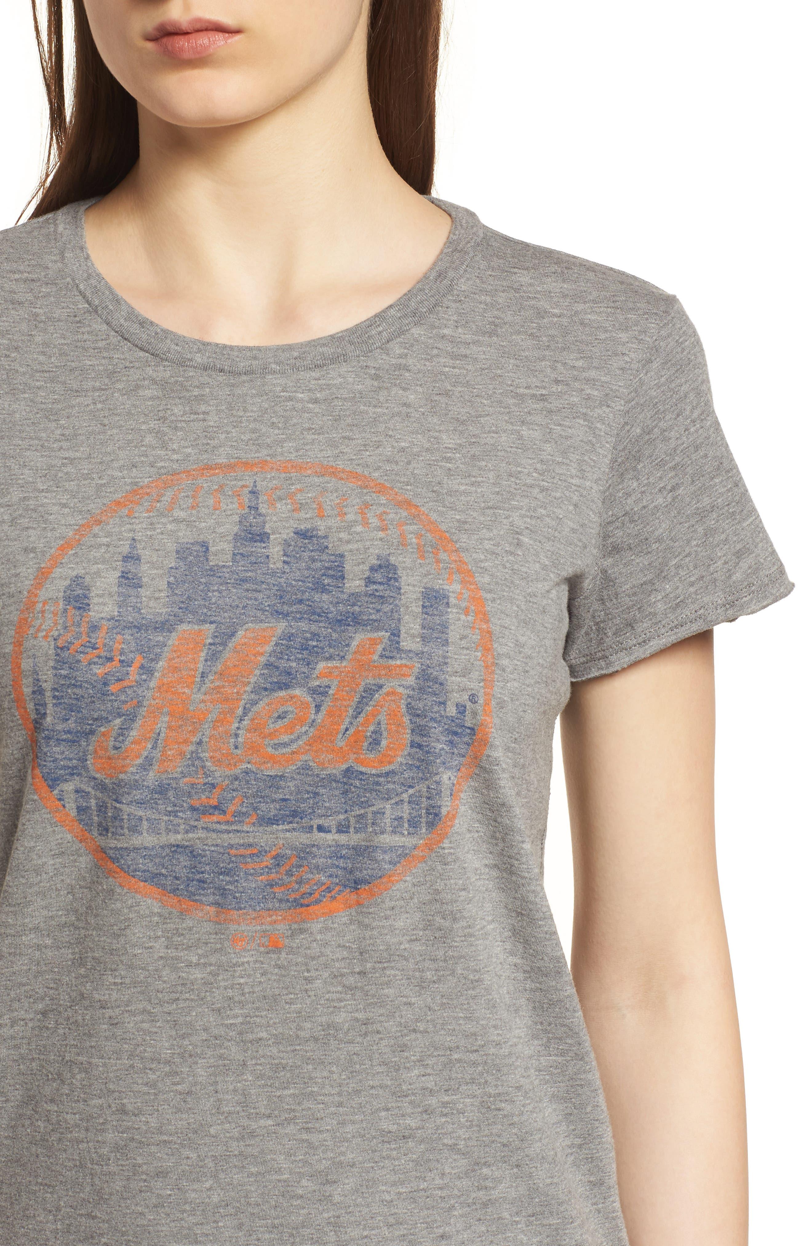 New York Mets Fader Letter Tee,                             Alternate thumbnail 4, color,                             Slate Grey