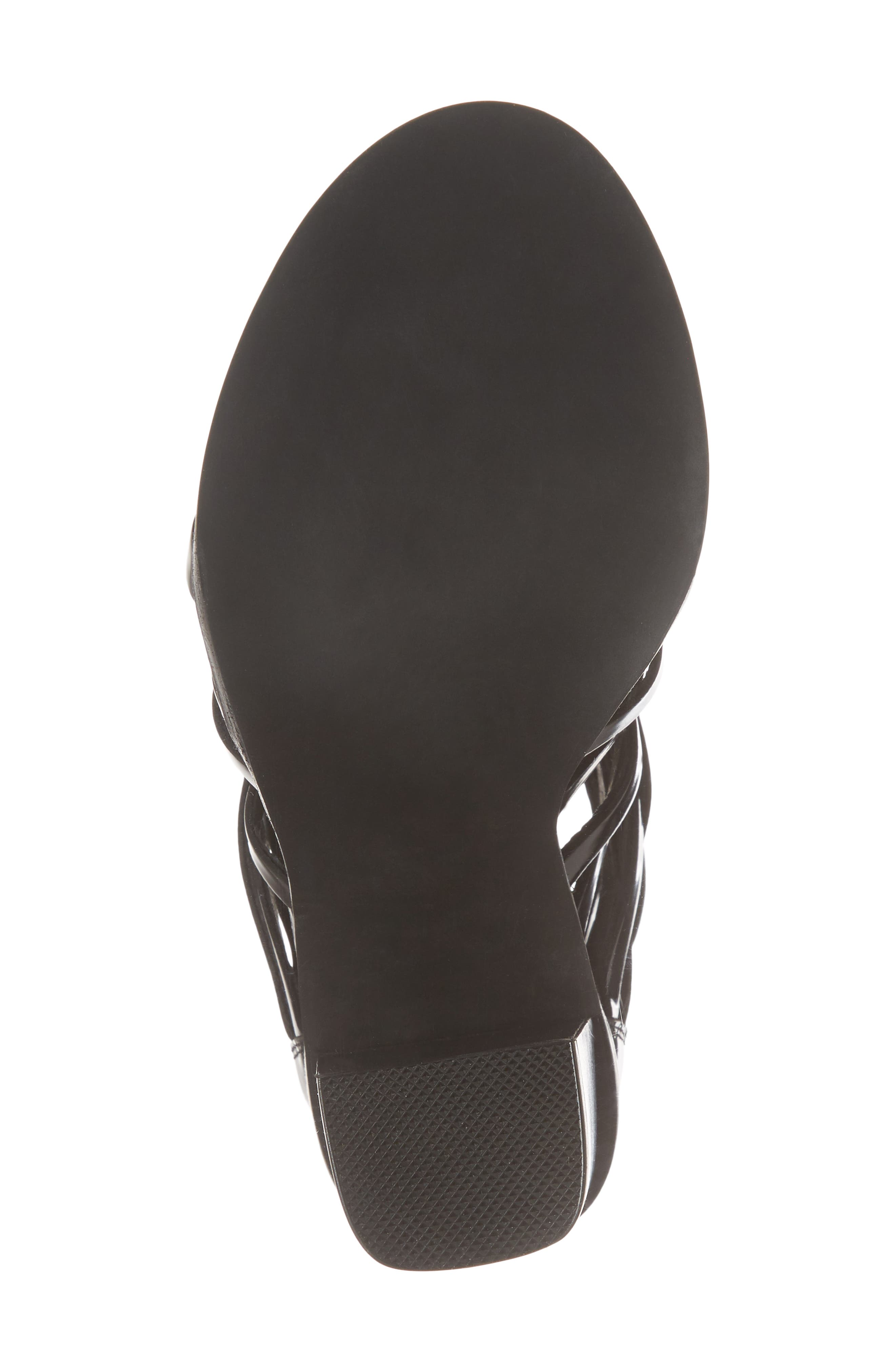 Deportivo Strappy Bootie,                             Alternate thumbnail 6, color,                             Black Leather