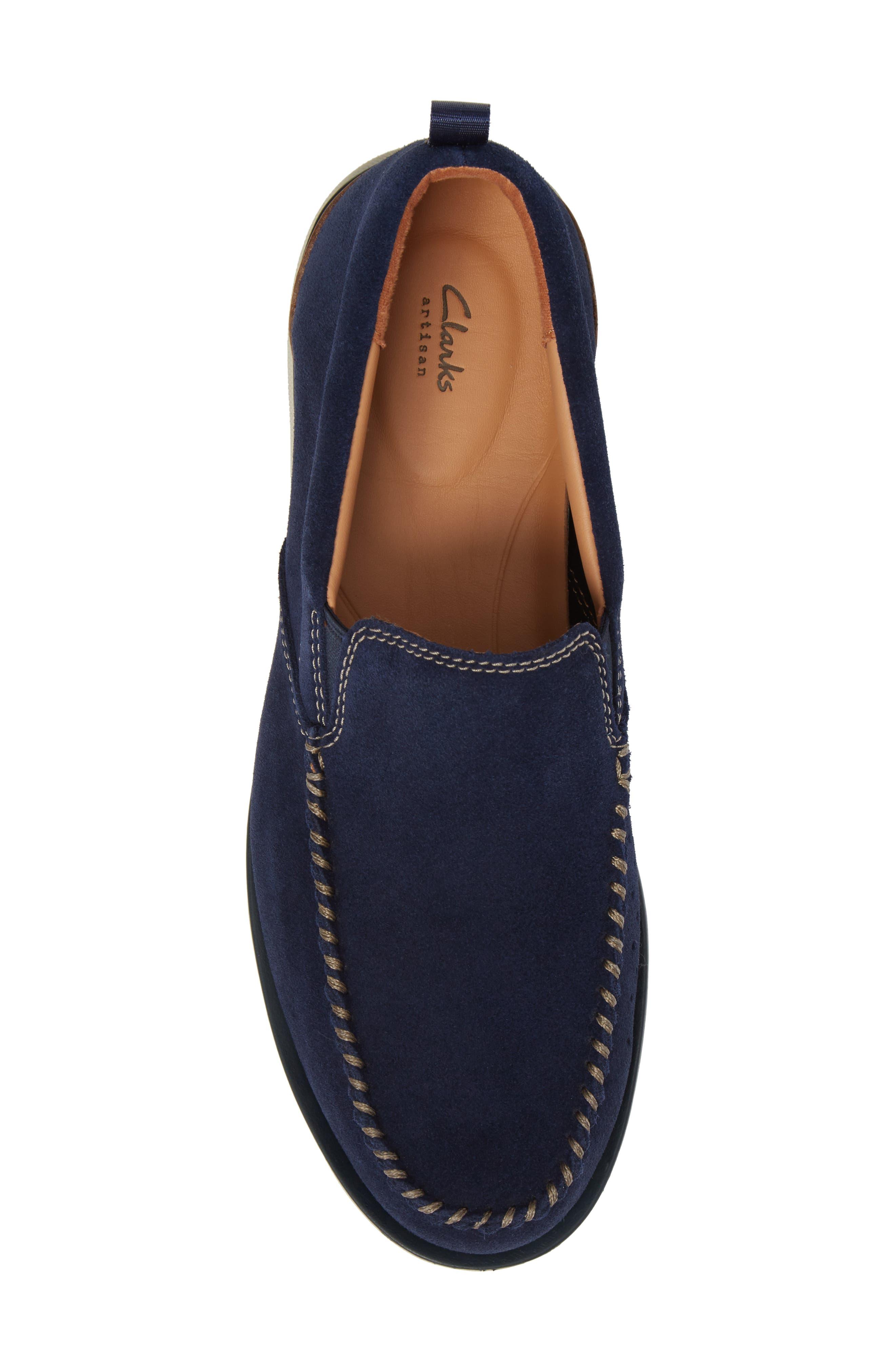 Edgewood Step Moc Toe Loafer,                             Alternate thumbnail 5, color,                             Blue Suede