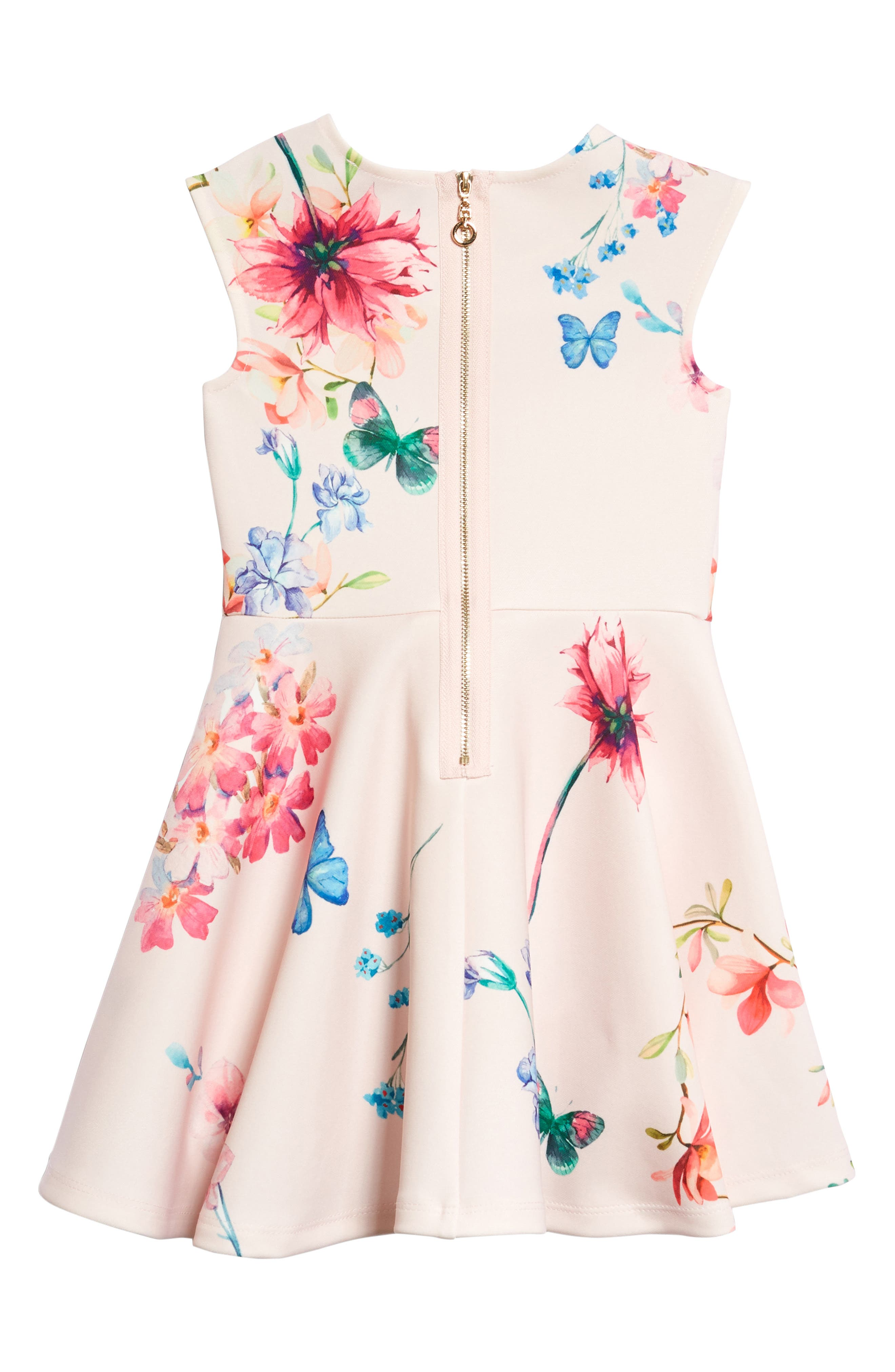 Floral Skater Dress,                             Alternate thumbnail 2, color,                             Pink