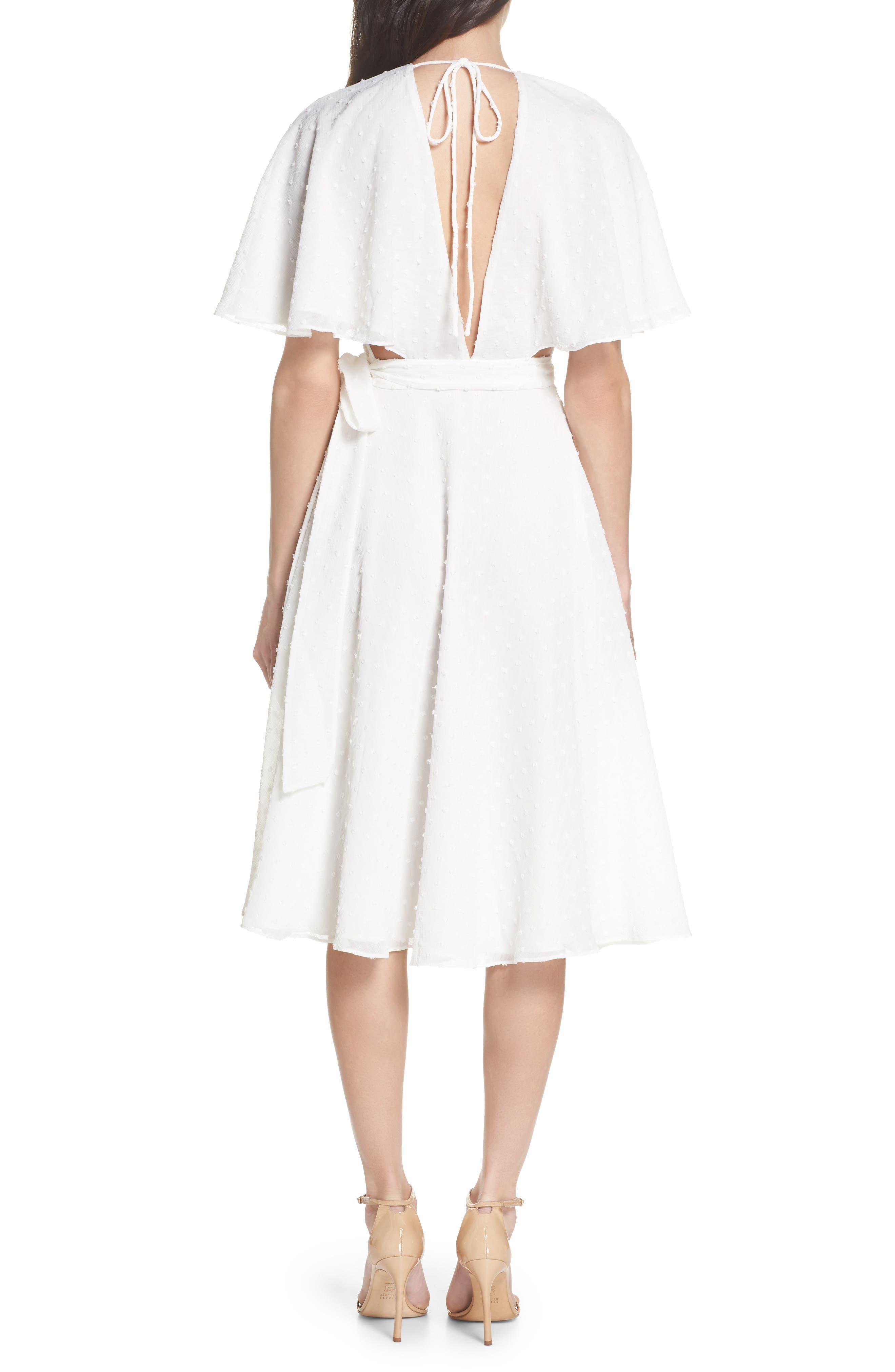 Sylvan Swiss Dot Wrap Dress,                             Alternate thumbnail 2, color,                             Ivory