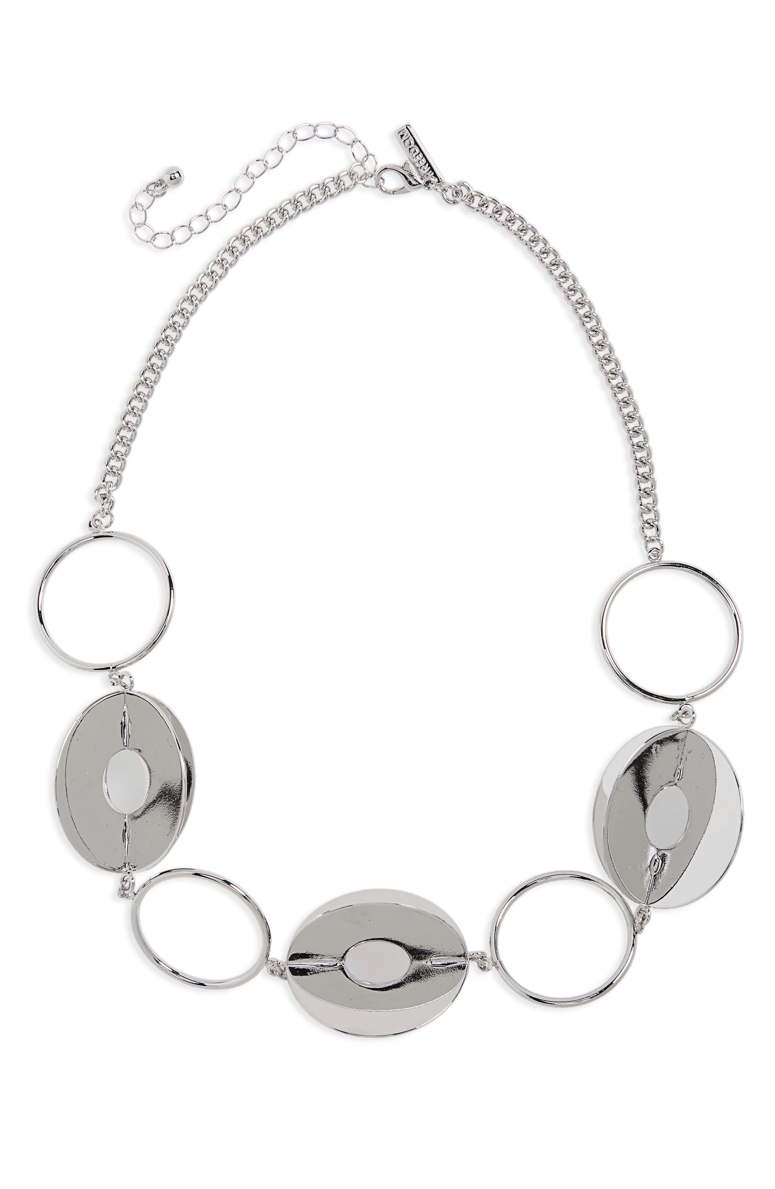 Circle 3 Disc Bracelet,                         Main,                         color, Silver