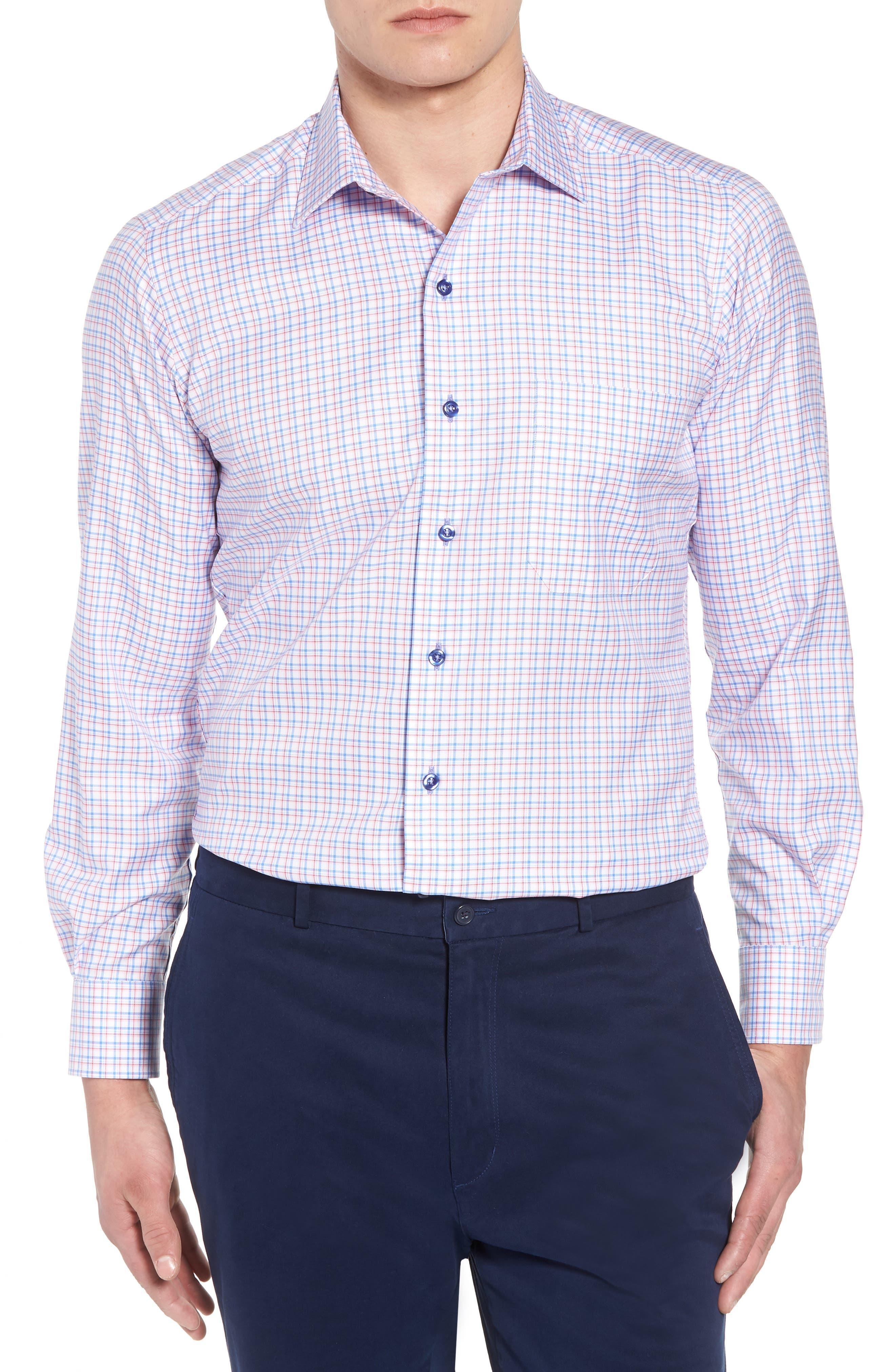 Regular Fit Check Sport Shirt,                         Main,                         color, Blue/ Pink